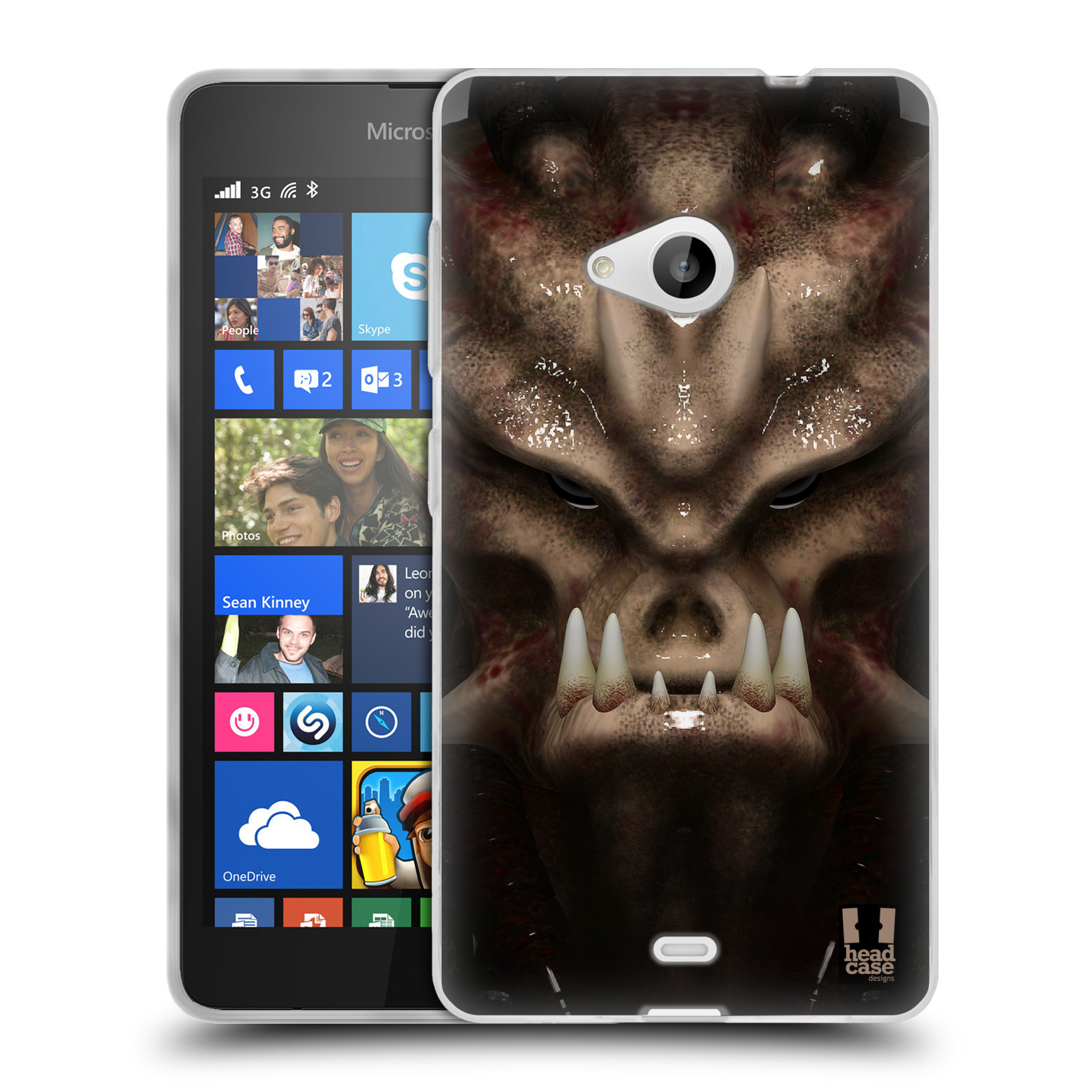Silikonové pouzdro na mobil Microsoft Lumia 535 - Head Case - Ufoun Warhead