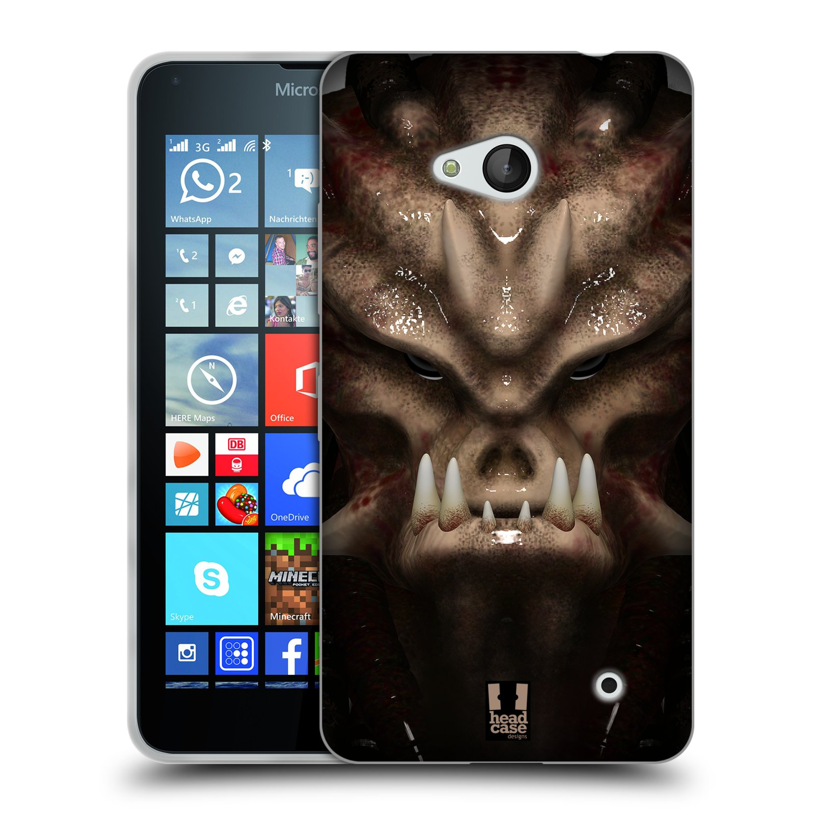 Silikonové pouzdro na mobil Microsoft Lumia 640 - Head Case - Ufoun Warhead