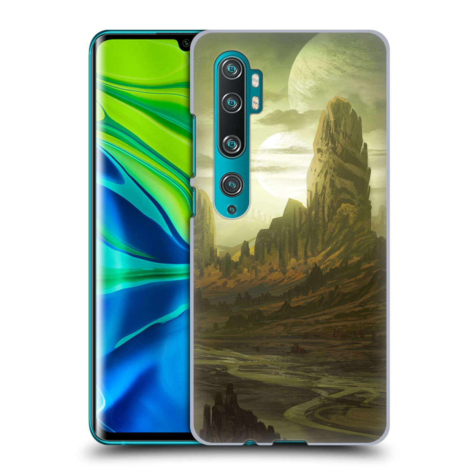 Official Alyn Spiller Environment Art Alien Landscape Case for Xiaomi Mi CC9 Pro / Mi Note 10 / Pro