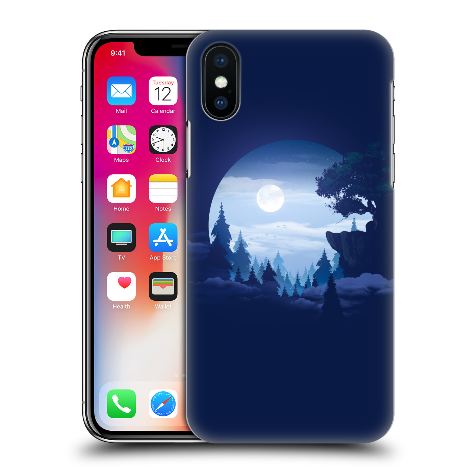 Official Alyn Spiller Environment Art Moon Case for Apple iPhone X / iPhone XS