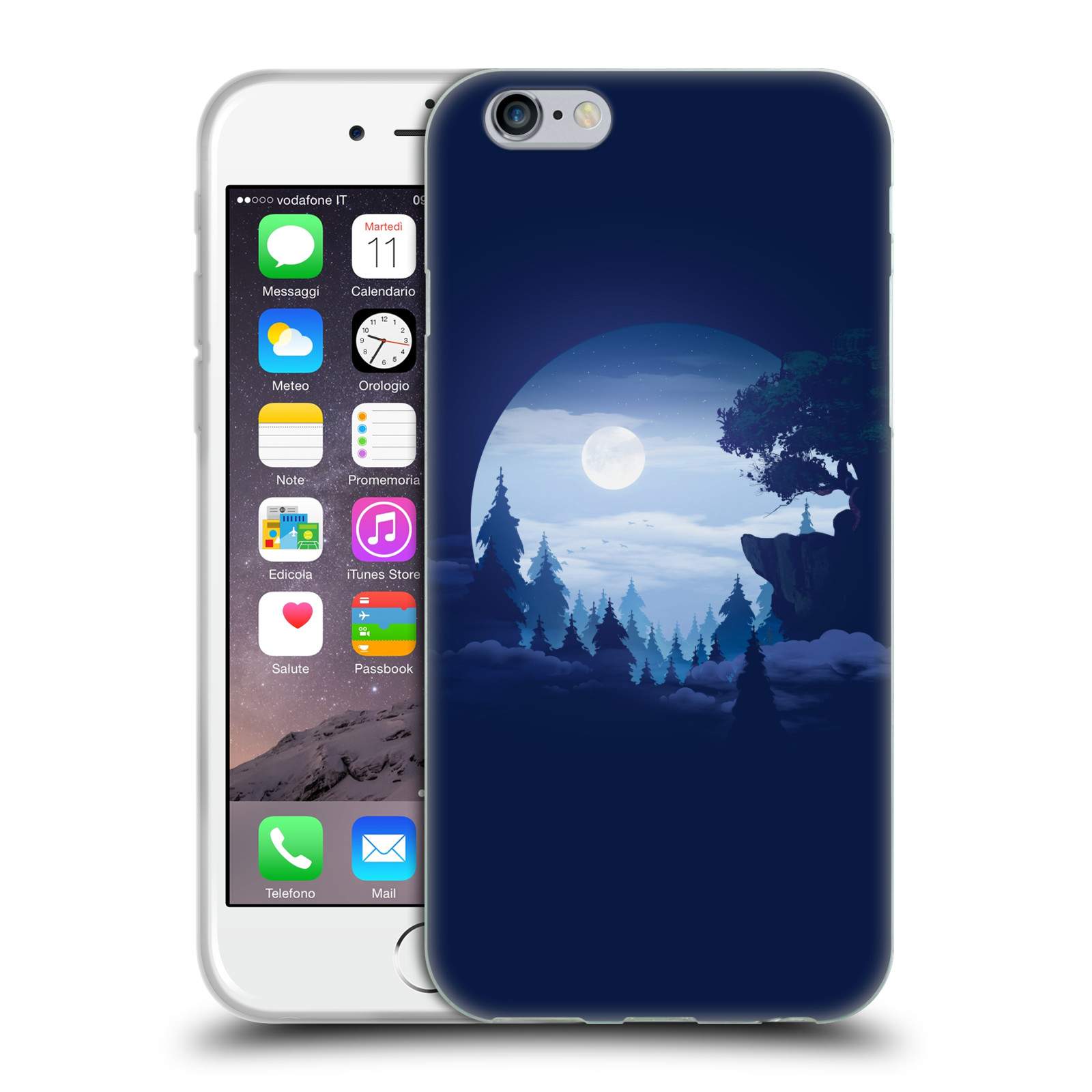 Official Alyn Spiller Environment Art Moon Gel Case for Apple iPhone 6 / iPhone 6s