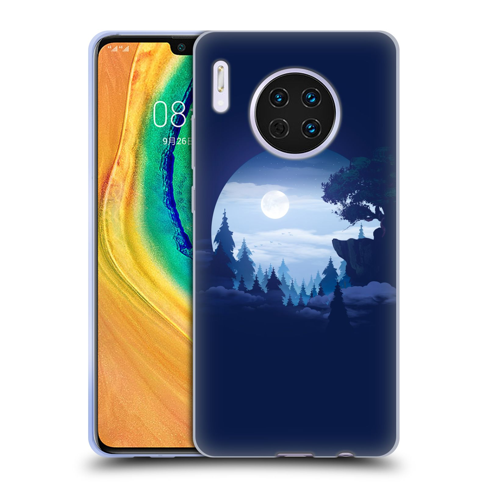 Official Alyn Spiller Environment Art Moon Gel Case for Huawei Mate 30