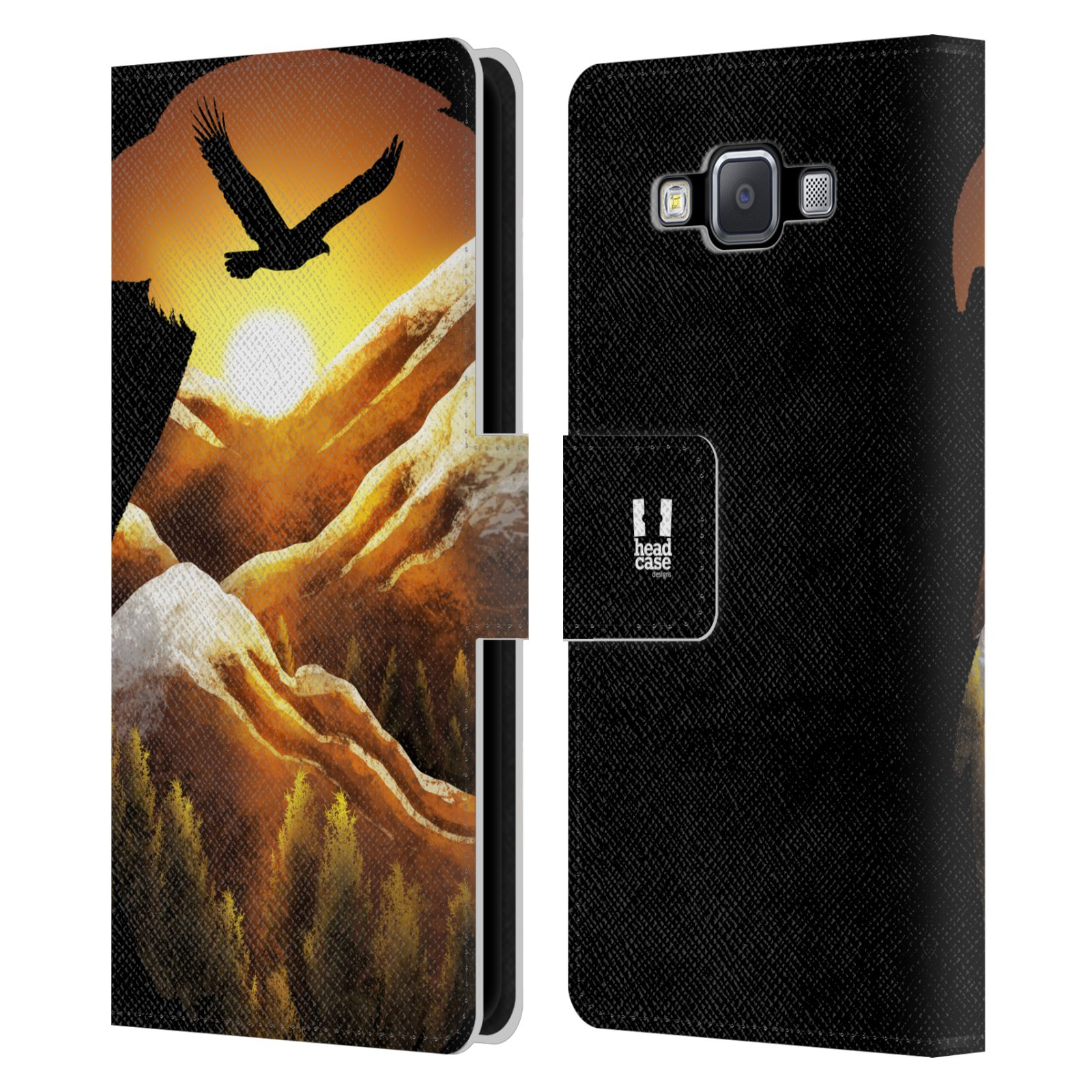 HEAD-CASE-DESIGNS-ANIMAL-DOUBLE-EXPOSURE-LEATHER-BOOK-CASE-FOR-SAMSUNG-PHONES-2
