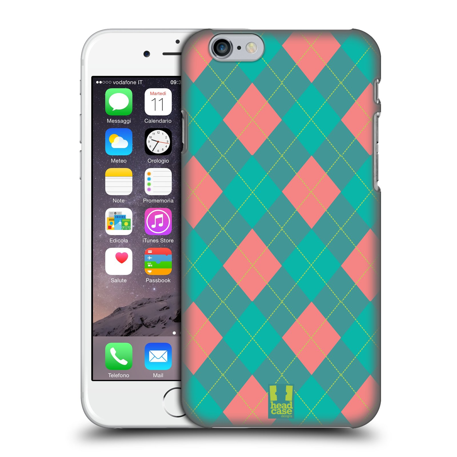 HEAD-CASE-DESIGNS-ARGYLE-COVER-RETRO-RIGIDA-PER-APPLE-iPHONE-TELEFONI