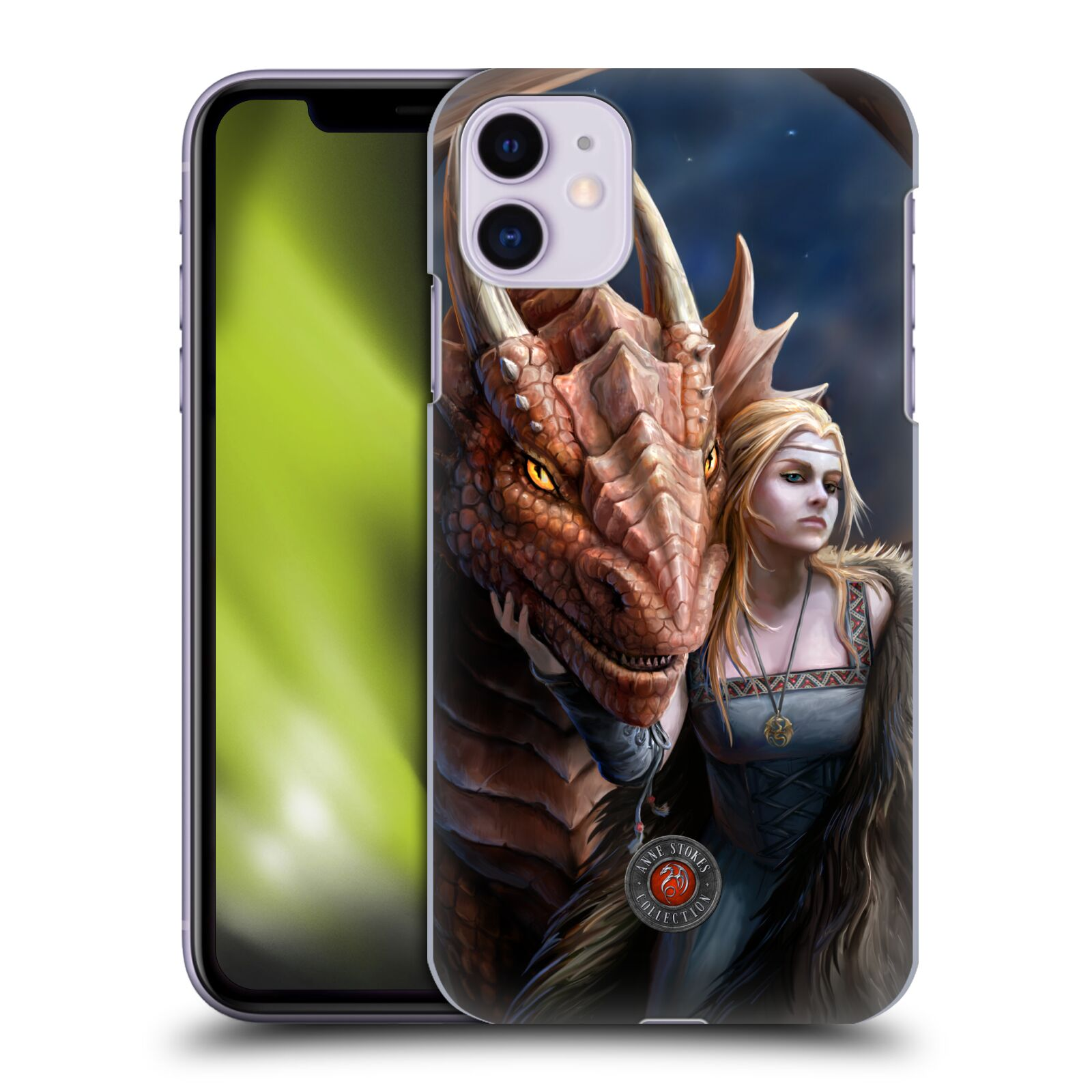 Officiel Anne Stokes Amitié de Dragon 2 Friend Or Foe Étui Coque D'Arrière Pour Apple iPhone 11