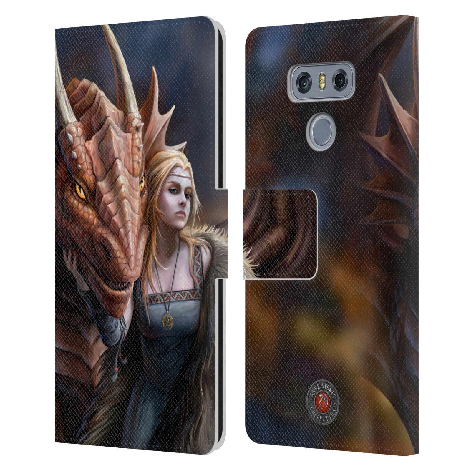 OFFICIAL-ANNE-STOKES-DRAGON-FRIENDSHIP-2-LEATHER-BOOK-CASE-FOR-LG-PHONES-1