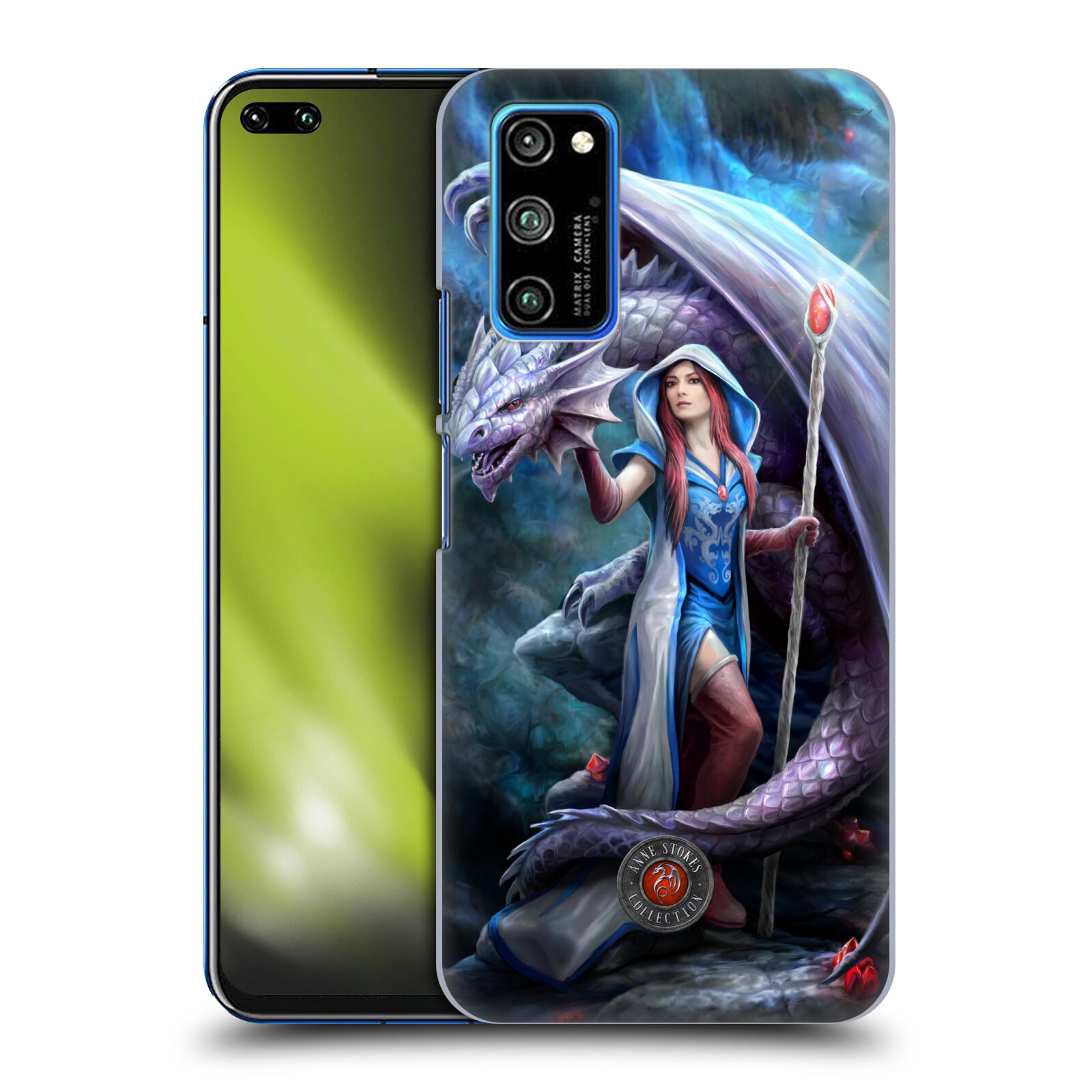 Official Anne Stokes Dragon Friendship 2 Mage Back Case for Huawei Honor V30 Pro / View 30 Pro