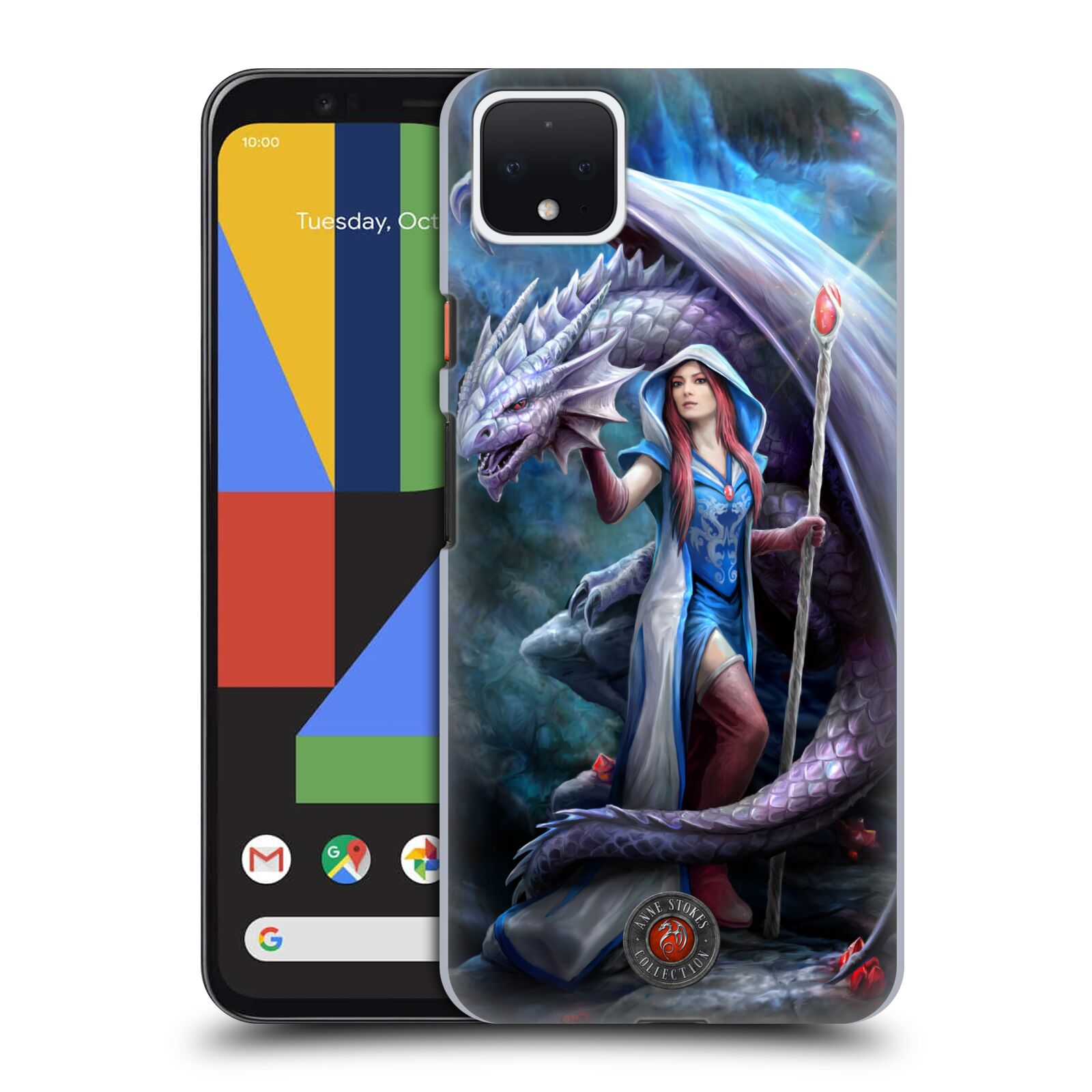 Official Anne Stokes Dragon Friendship 2 Mage Back Case for Google Pixel 4 XL