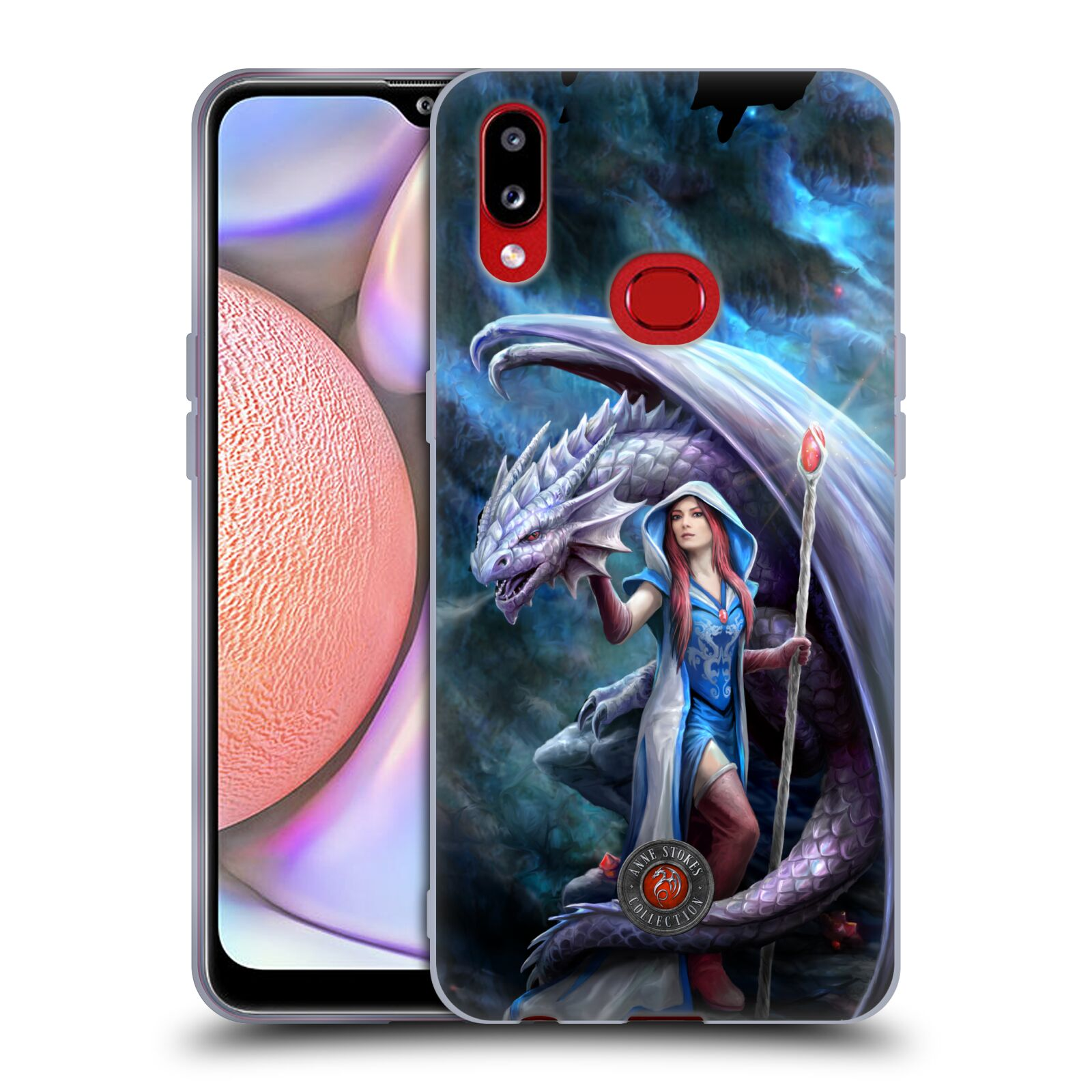 Official Anne Stokes Dragon Friendship 2 Mage Gel Case for Samsung Galaxy A10s (2019)