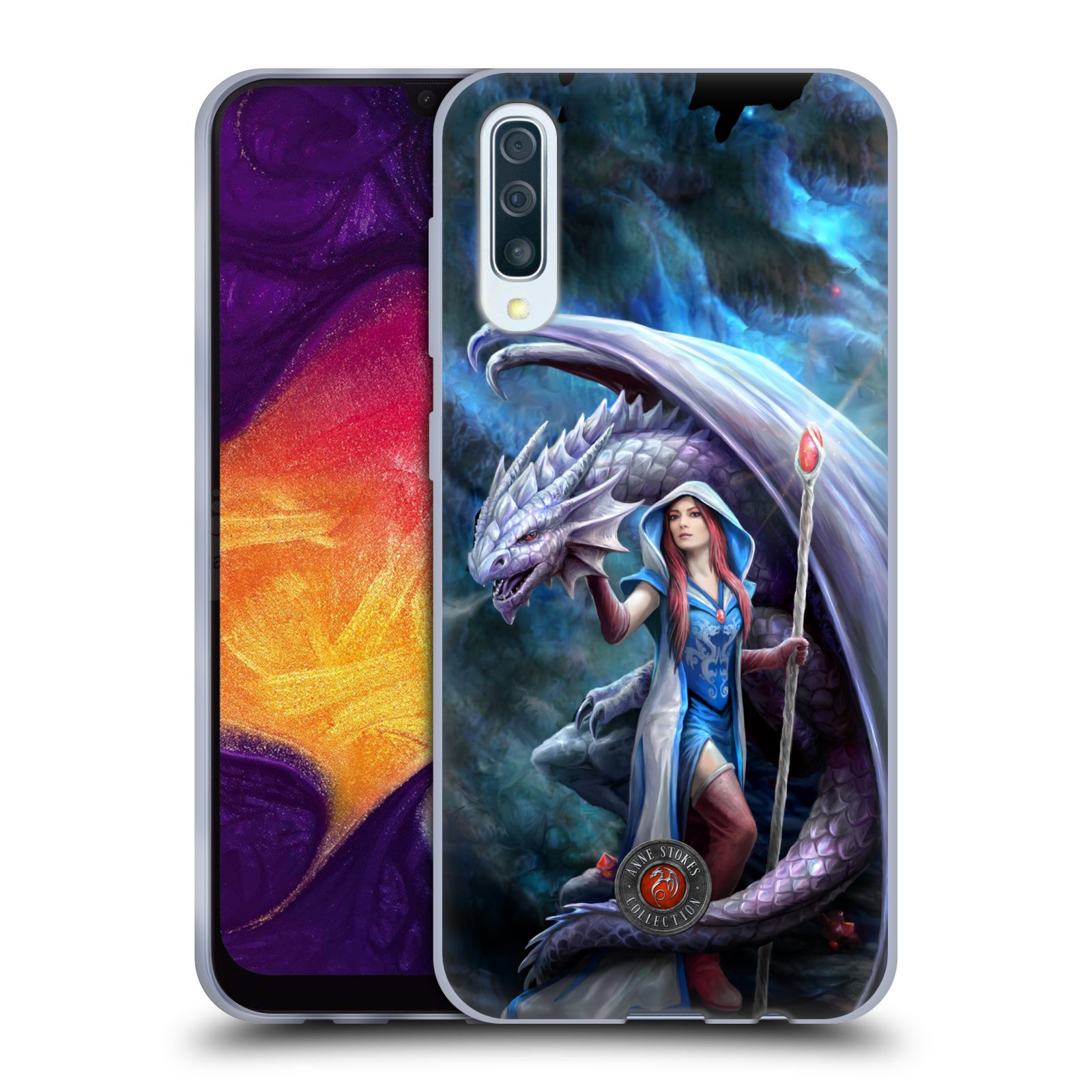 Official Anne Stokes Dragon Friendship 2 Mage Gel Case for Samsung Galaxy A50/A30s (2019)