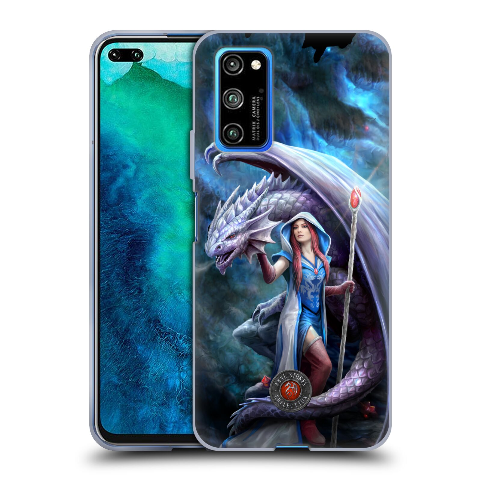 Official Anne Stokes Dragon Friendship 2 Mage Gel Case for Huawei Honor V30 Pro / View 30 Pro