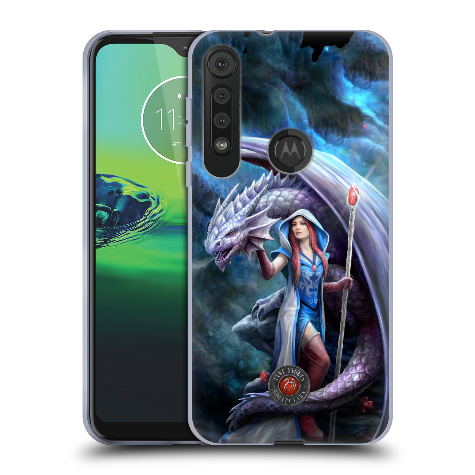 Official Anne Stokes Dragon Friendship 2 Mage Gel Case for Motorola One Macro / Moto G8 Play
