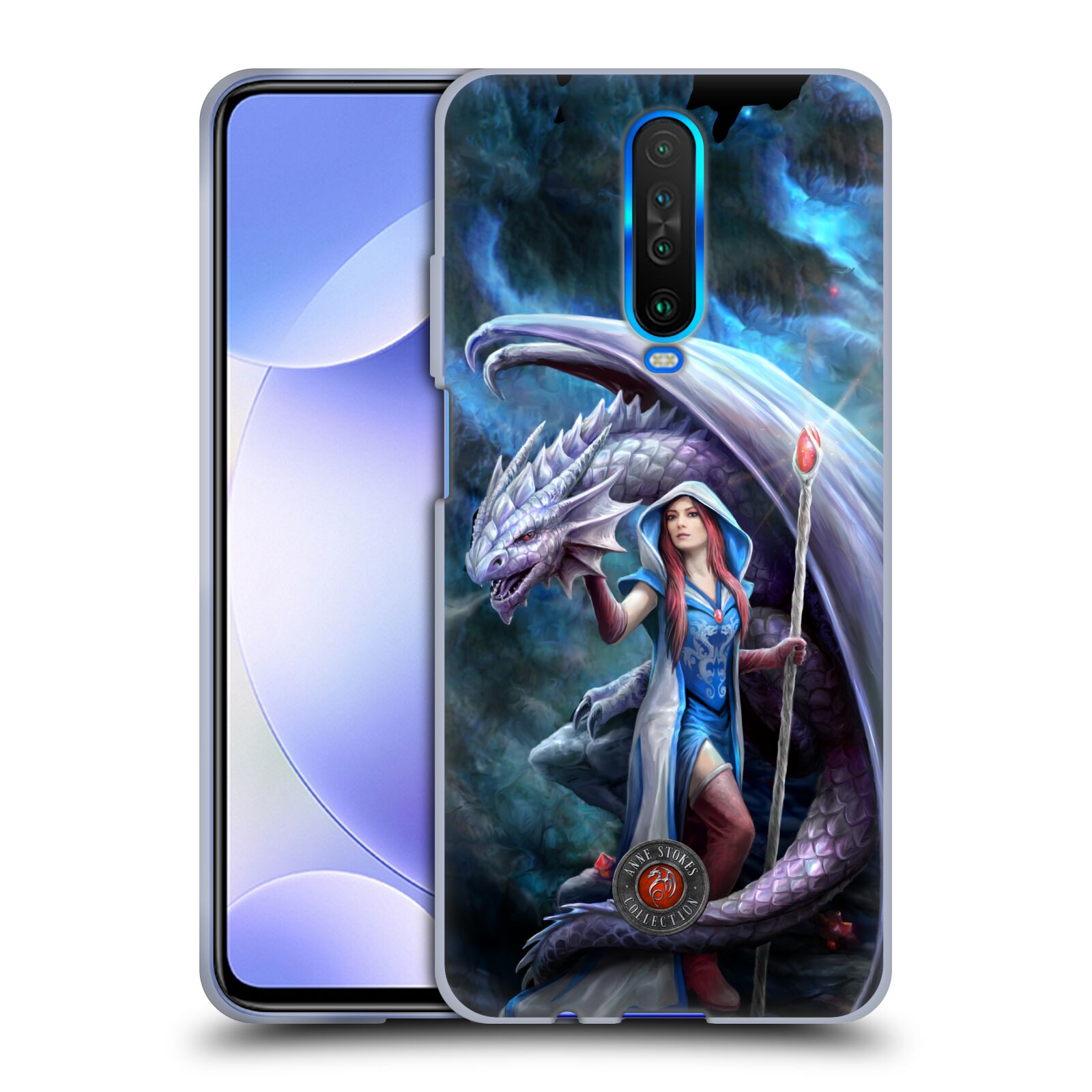 Official Anne Stokes Dragon Friendship 2 Mage Gel Case for Xiaomi Redmi K30 / 5G