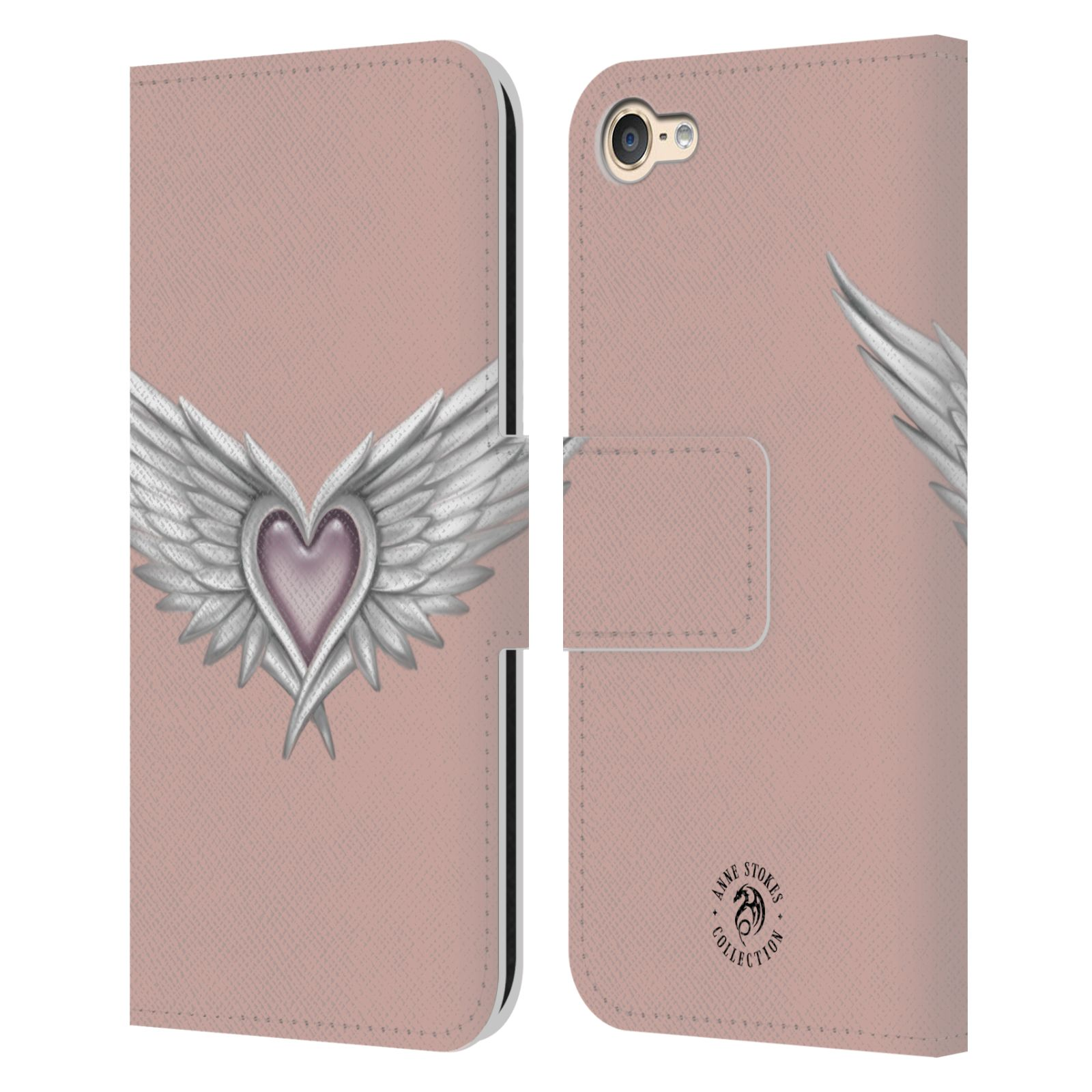 ANNE-STOKES-MERMAID-AND-ANGELS-LEATHER-BOOK-WALLET-CASE-FOR-APPLE-iPOD-TOUCH-MP3