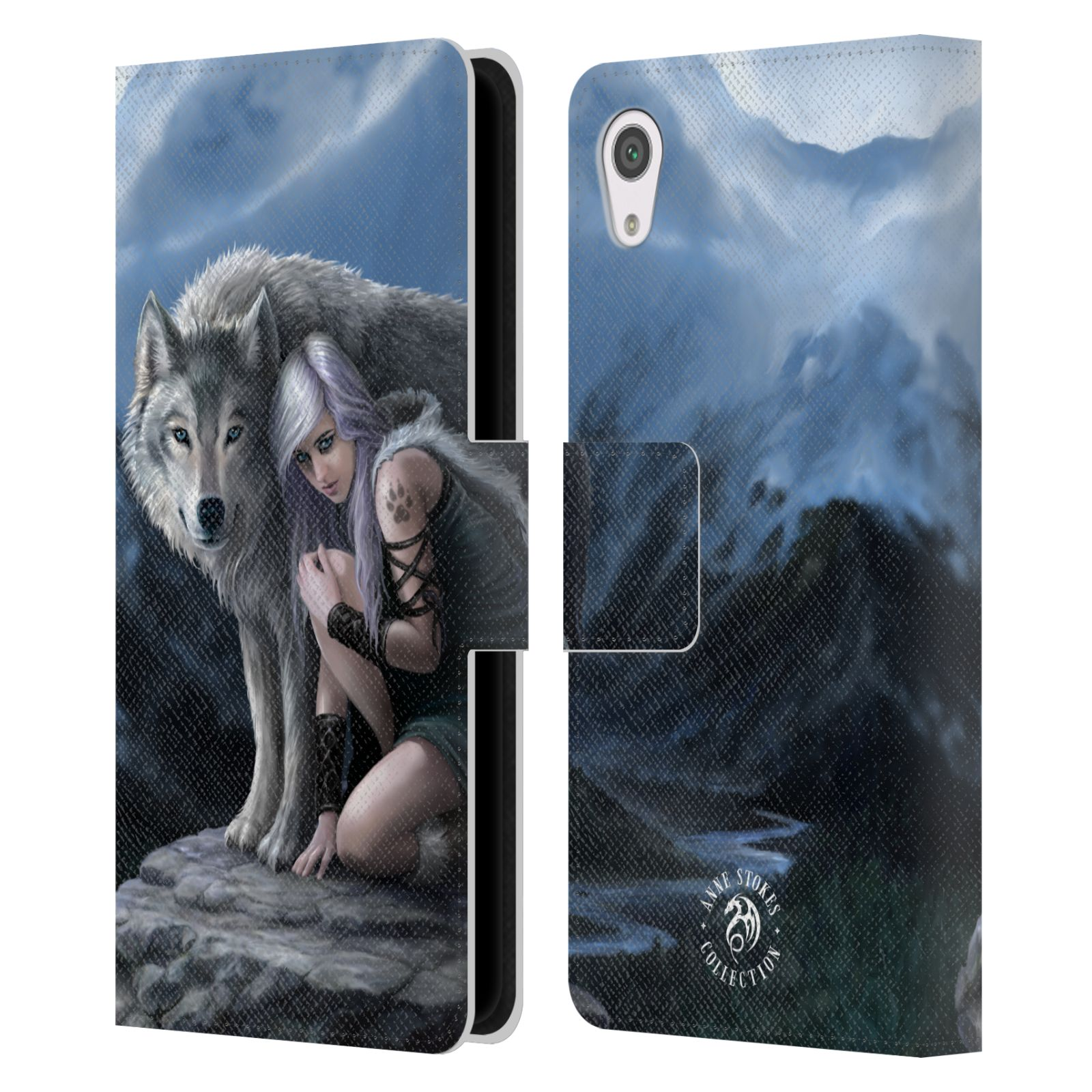 OFFICIAL-ANNE-STOKES-WOLVES-LEATHER-BOOK-WALLET-CASE-COVER-FOR-SONY-PHONES-1