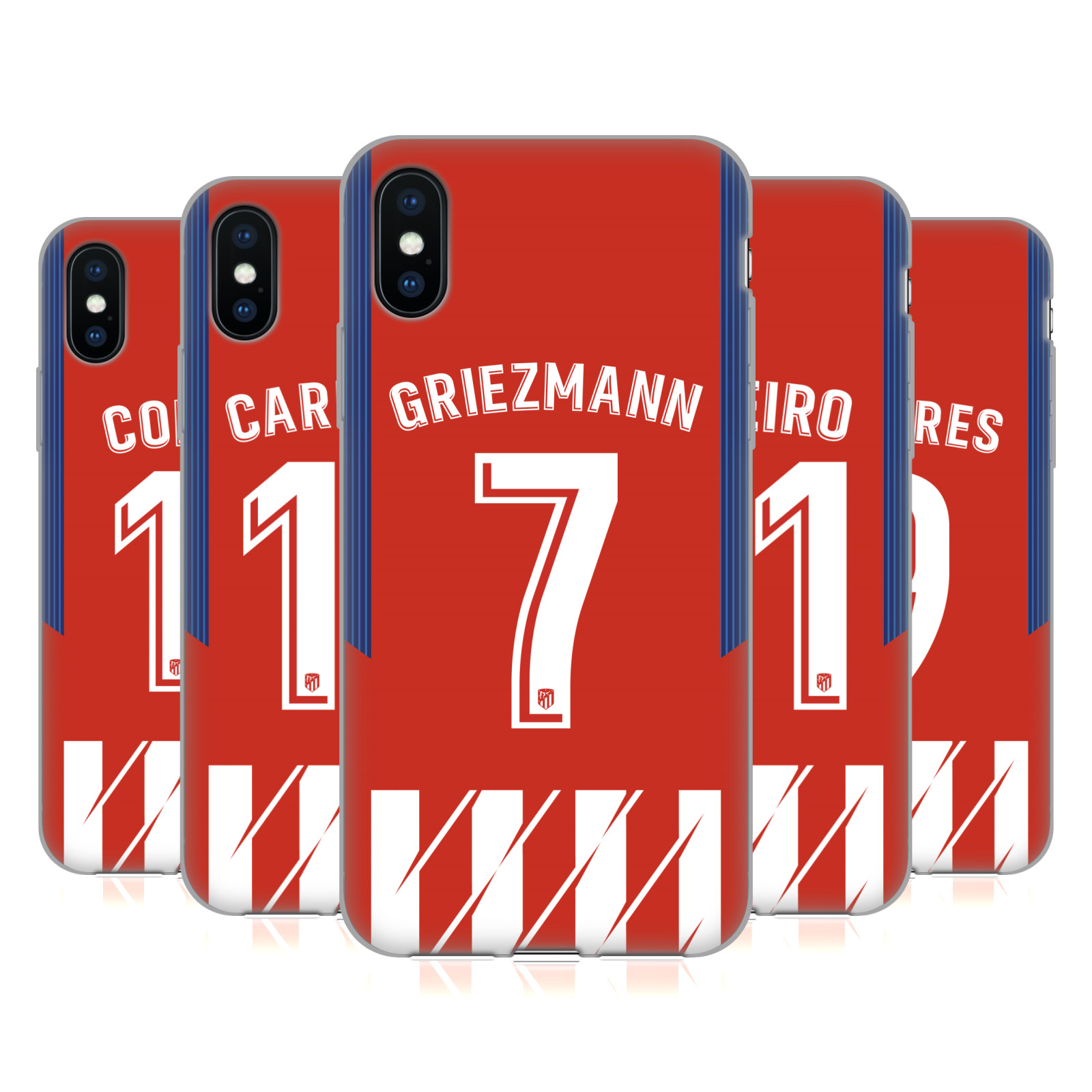 Atletico Madrid 2017/18 Players Home Kit Group 1