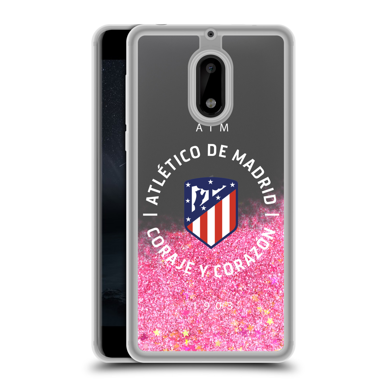 ATLETICO-MADRID-VARIOUS-DESIGNS-LIGHT-PINK-HYBRID-LIQUID-GLITTER-FOR-NOKIA-PHONE