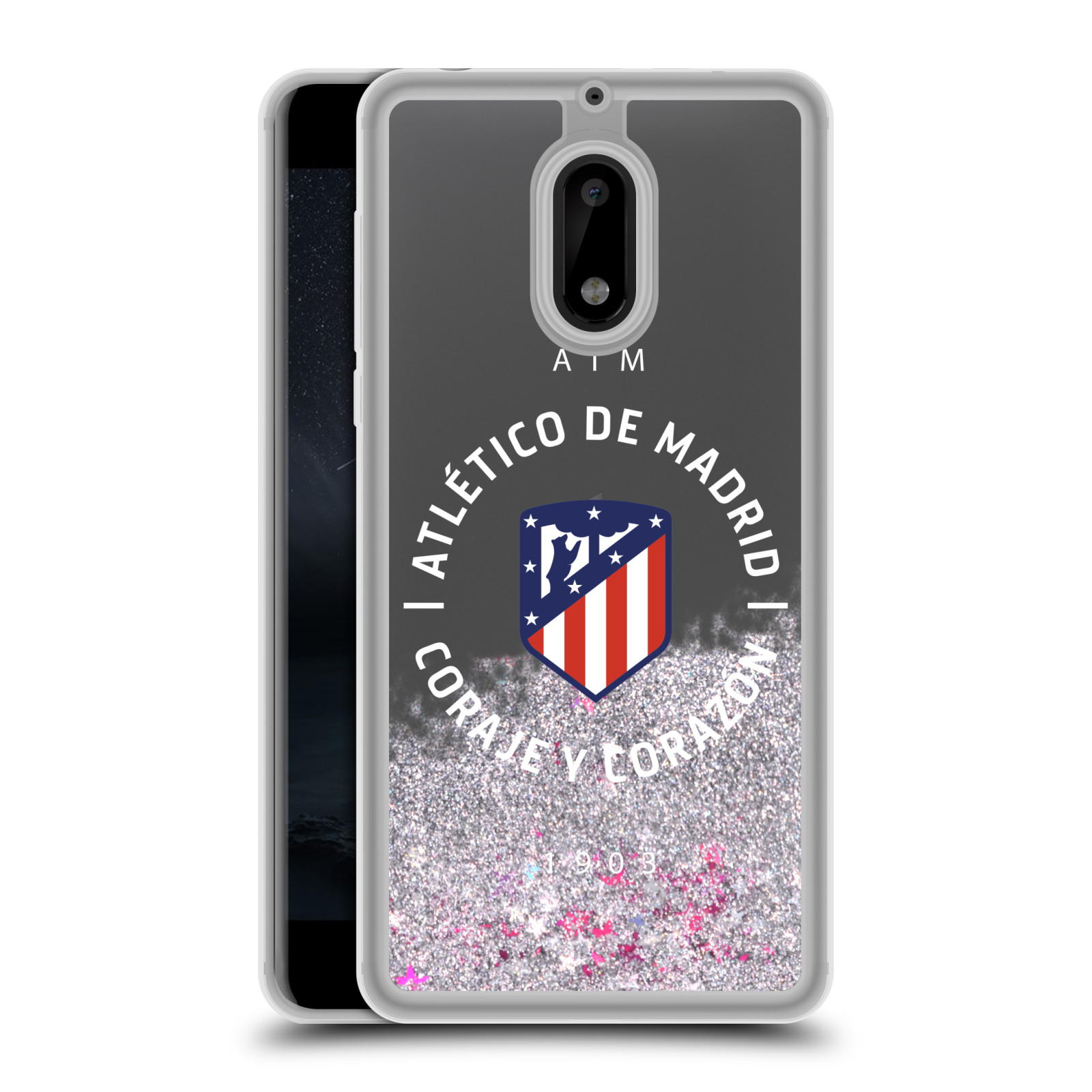 ATLETICO-MADRID-VARIOUS-DESIGNS-SILVER-HYBRID-LIQUID-GLITTER-FOR-NOKIA-PHONES