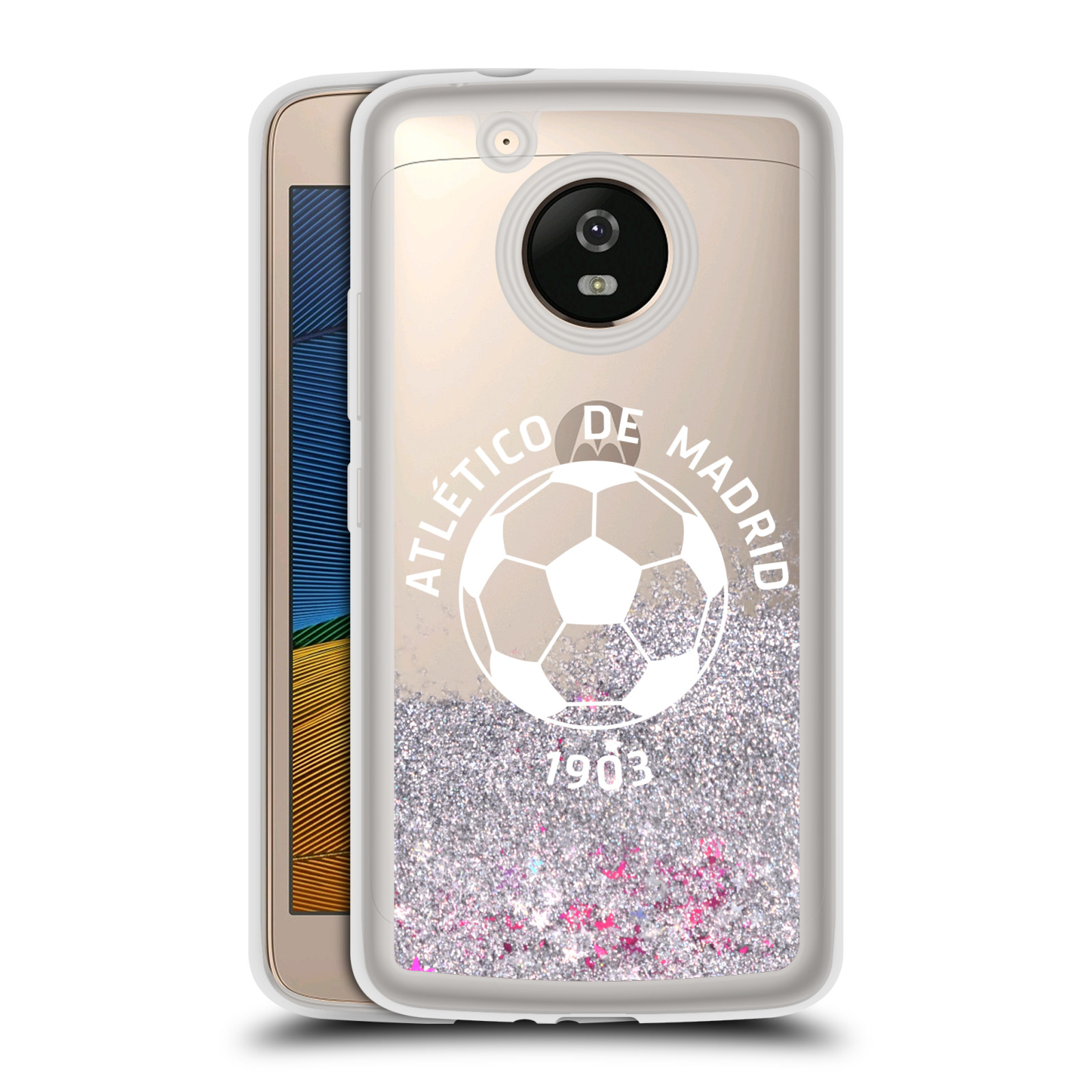ATLETICO-MADRID-VARIOUS-DESIGNS-SILVER-HYBRID-LIQUID-GLITTER-FOR-MOTOROLA-PHONES
