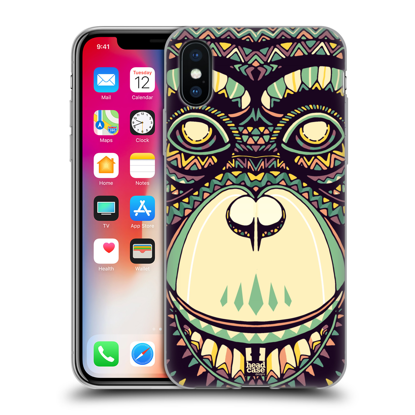 HEAD-CASE-DESIGNS-AZTEC-ANIMAL-FACES-3-SOFT-GEL-CASE-FOR-APPLE-iPHONE-PHONES