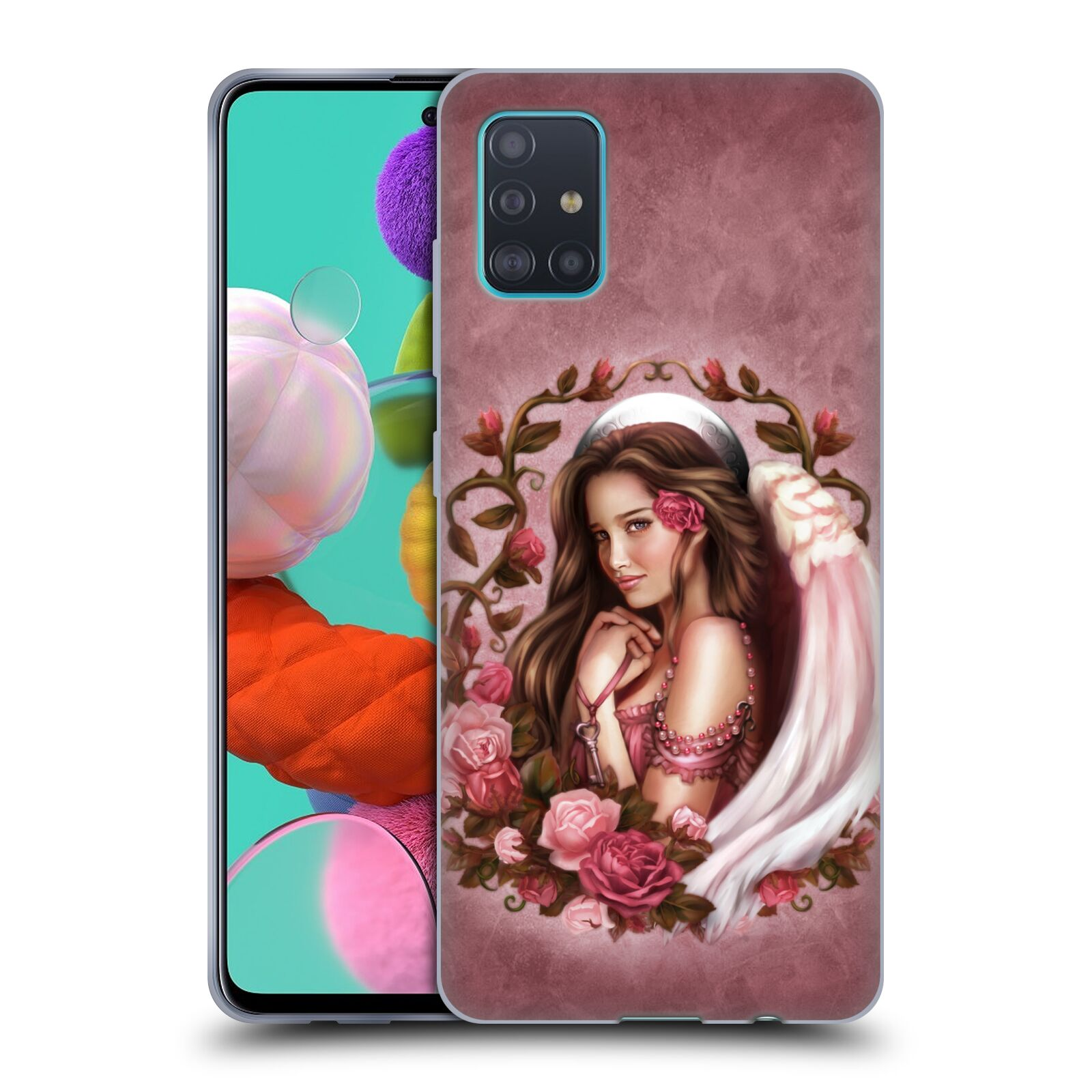 Official Brigid Ashwood Angels Rose Gel Case for Samsung Galaxy A51 (2019)