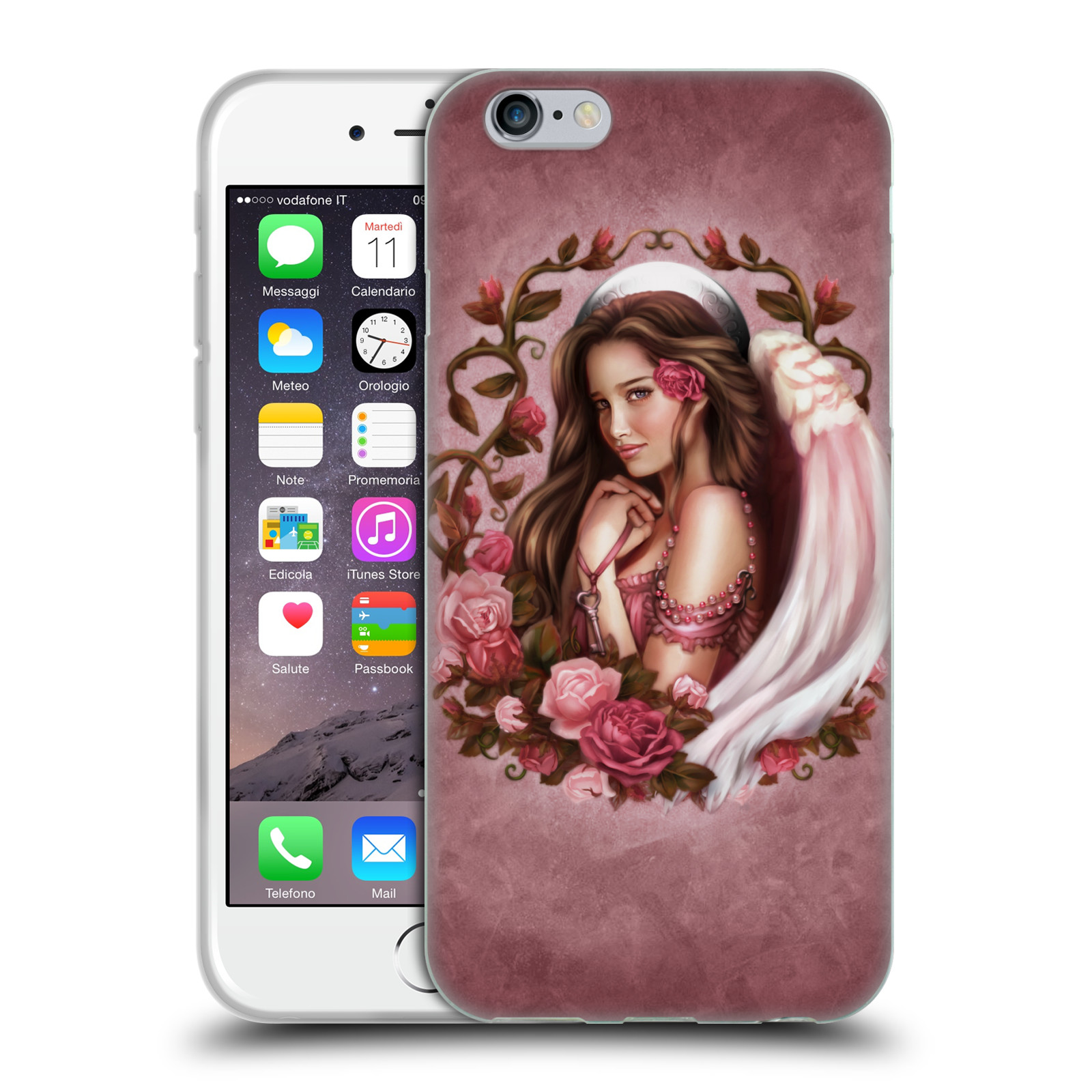 Official Brigid Ashwood Angels Rose Gel Case for Apple iPhone 6 / iPhone 6s