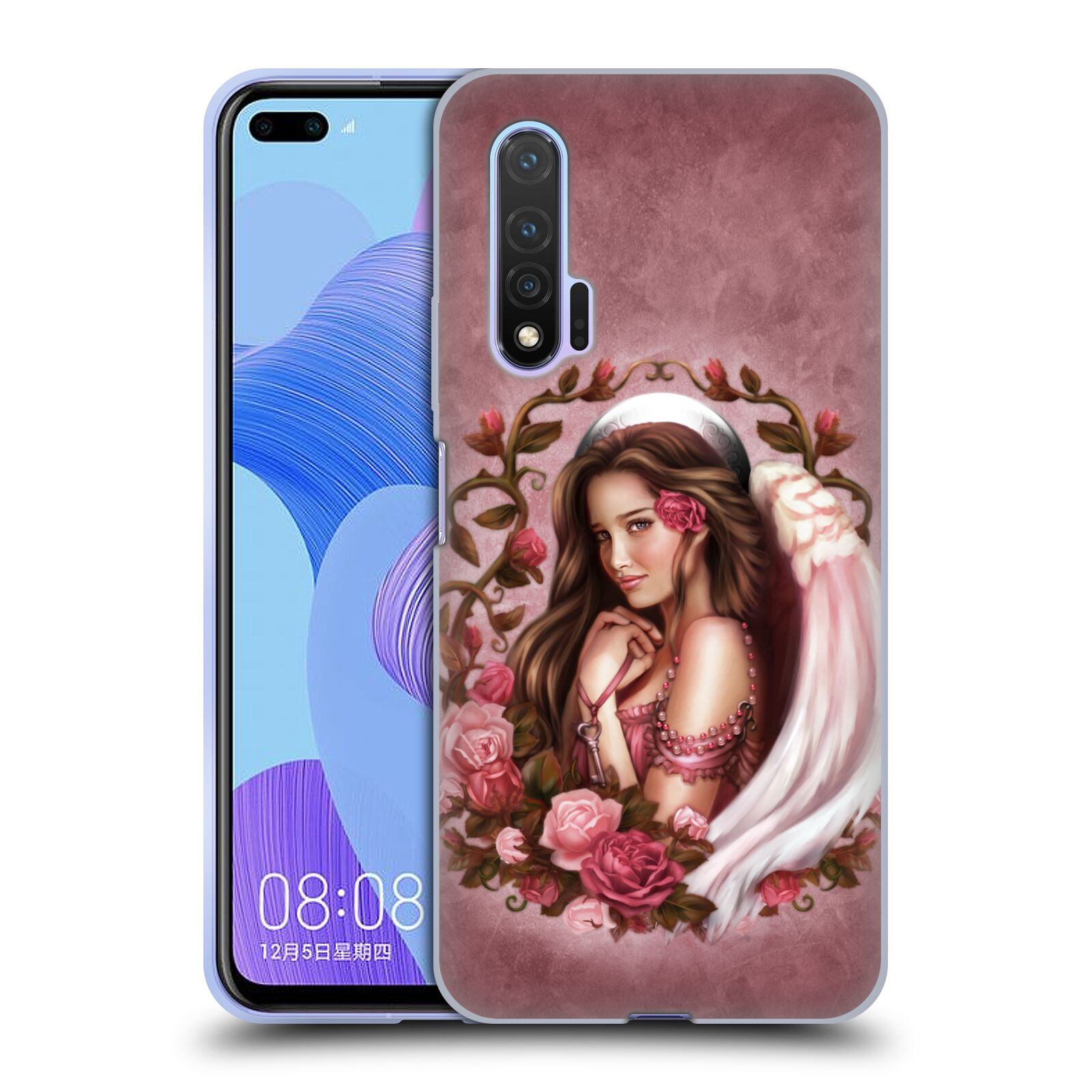 Official Brigid Ashwood Angels Rose Gel Case for Huawei Nova 6 5G