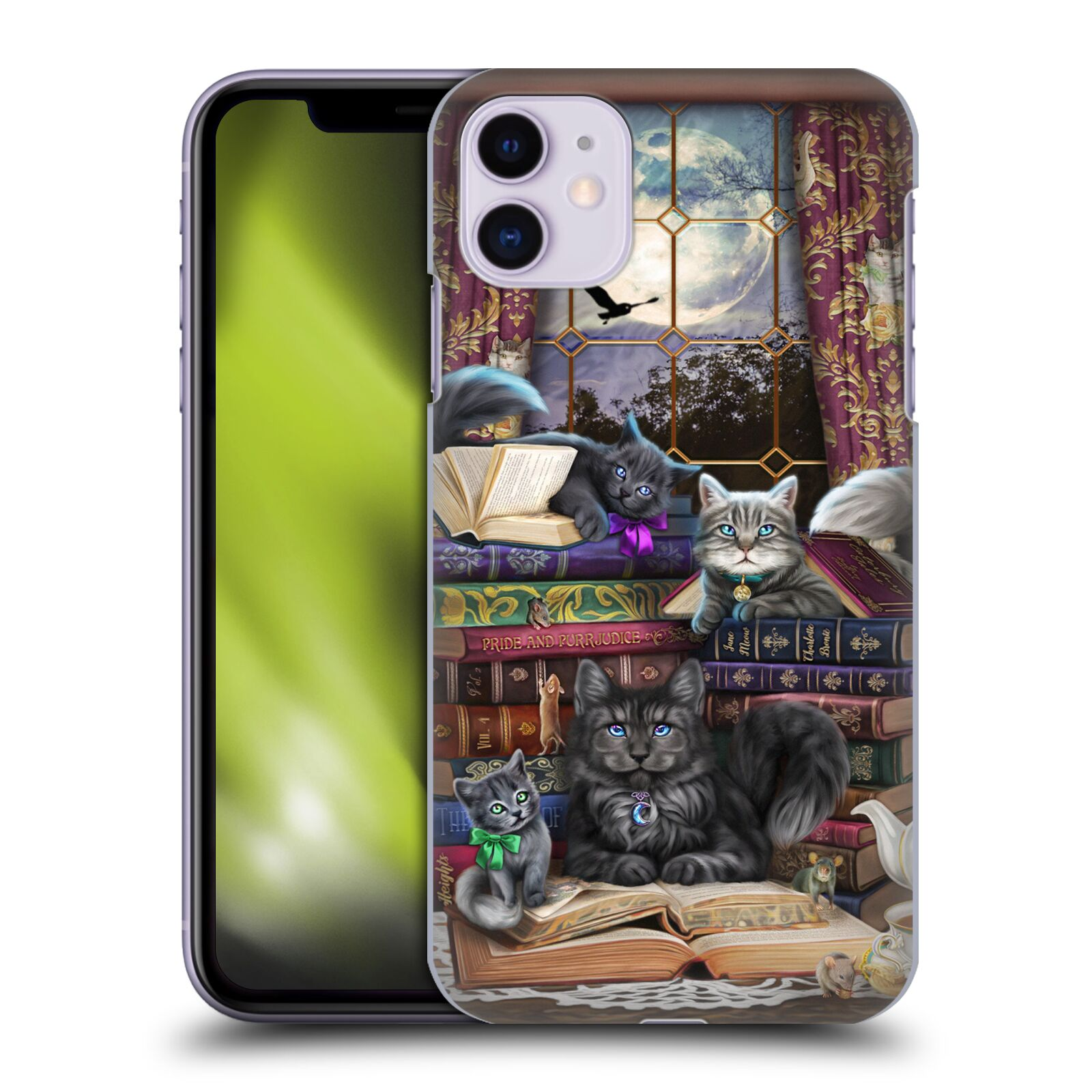 Official Brigid Ashwood Cats Storytime Cats And Books Case for Apple iPhone 11