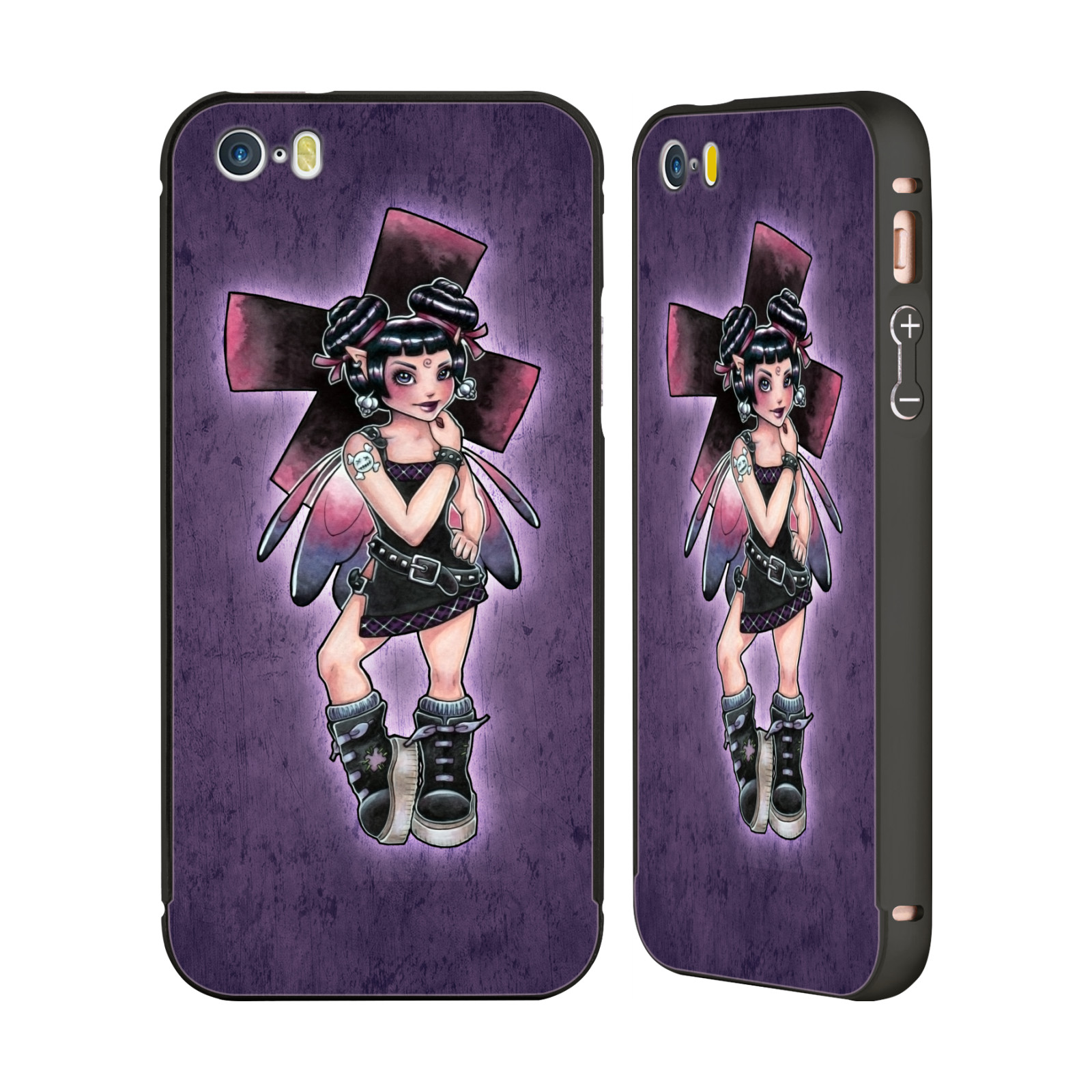 OFFICIAL-BRIGID-ASHWOOD-FAIRIES-2-BLACK-SLIDER-CASE-FOR-APPLE-iPHONE-PHONES