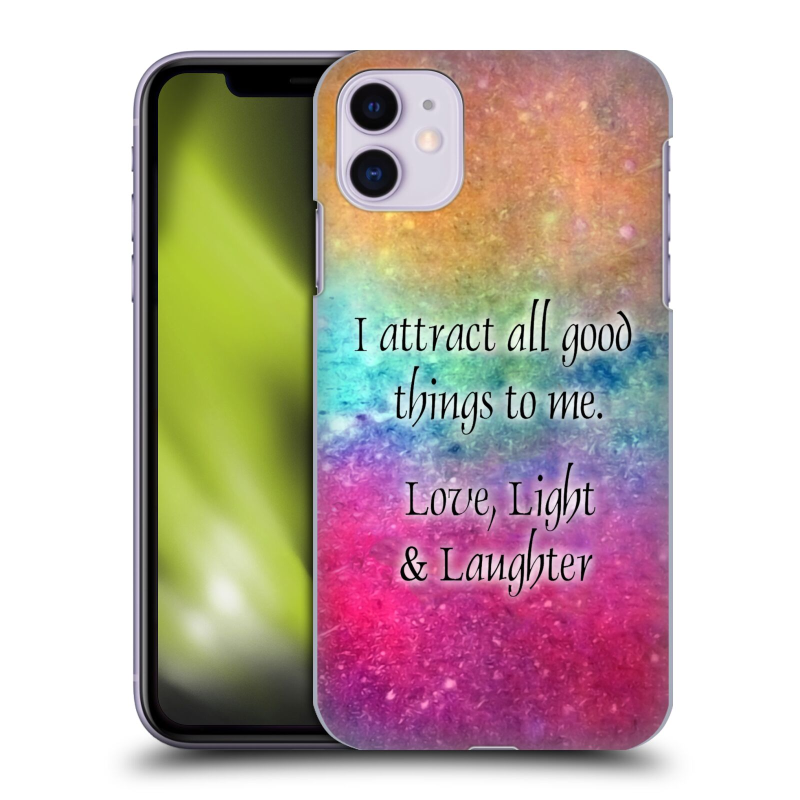 Official Brigid Ashwood Inspirational 2 Love, Light, & Laughter Back Case for Apple iPhone 11