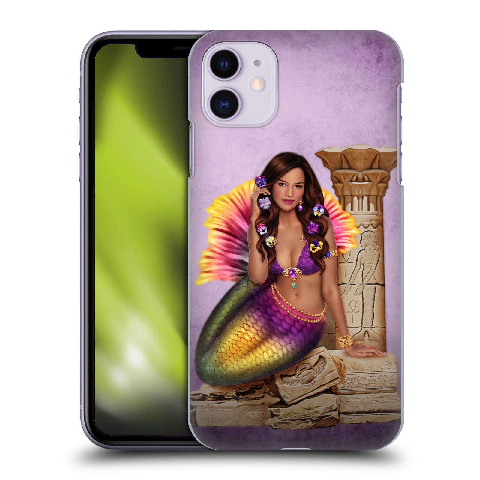 Official Brigid Ashwood Mermaids Ancient Ruins Back Case for Apple iPhone 11