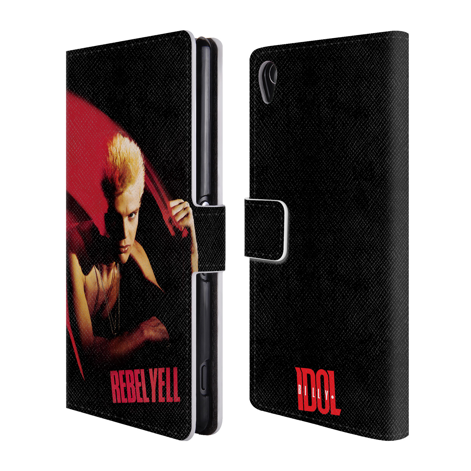OFFICIAL-BILLY-IDOL-ALBUMS-LEATHER-BOOK-WALLET-CASE-COVER-FOR-SONY-PHONES-1