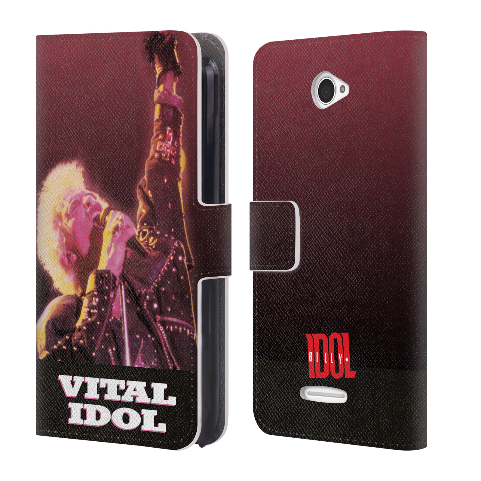 OFFICIAL-BILLY-IDOL-ALBUMS-LEATHER-BOOK-WALLET-CASE-COVER-FOR-SONY-PHONES-2