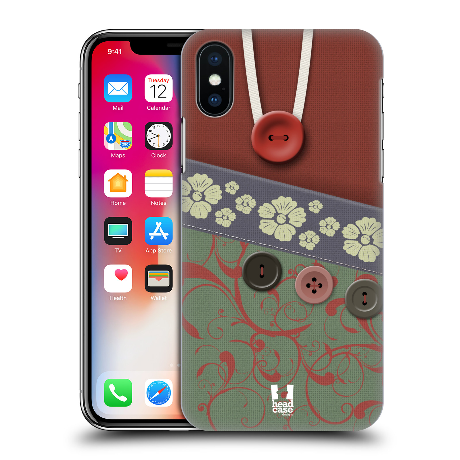 HEAD-CASE-DESIGNS-BORSA-CON-BOTTONE-COVER-RETRO-RIGIDA-PER-APPLE-iPHONE-TELEFONI