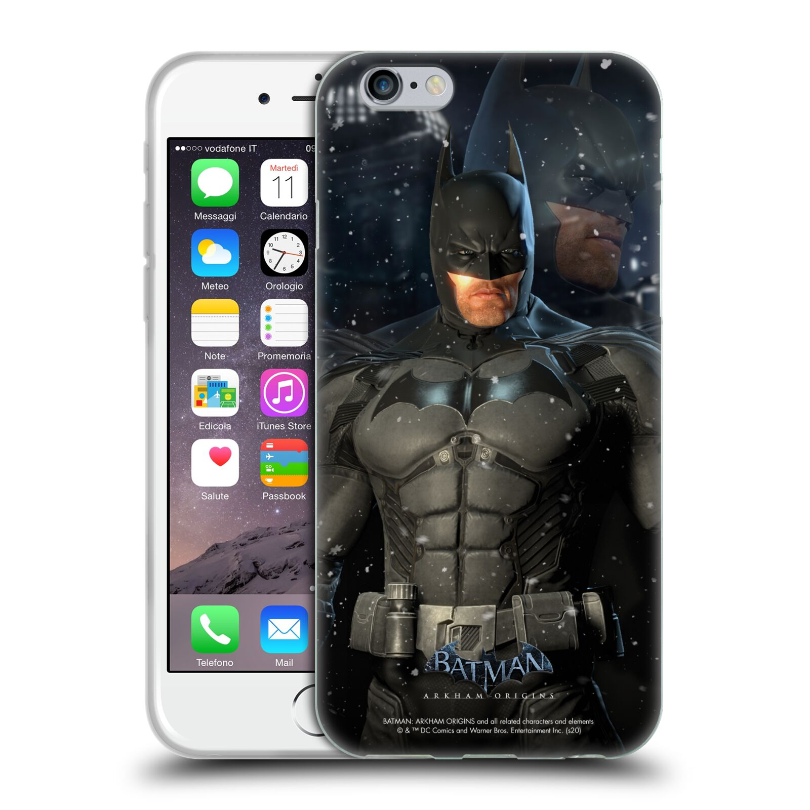 Official Batman: Arkham Origins Characters Batman Gel Case for Apple iPhone 6 / iPhone 6s