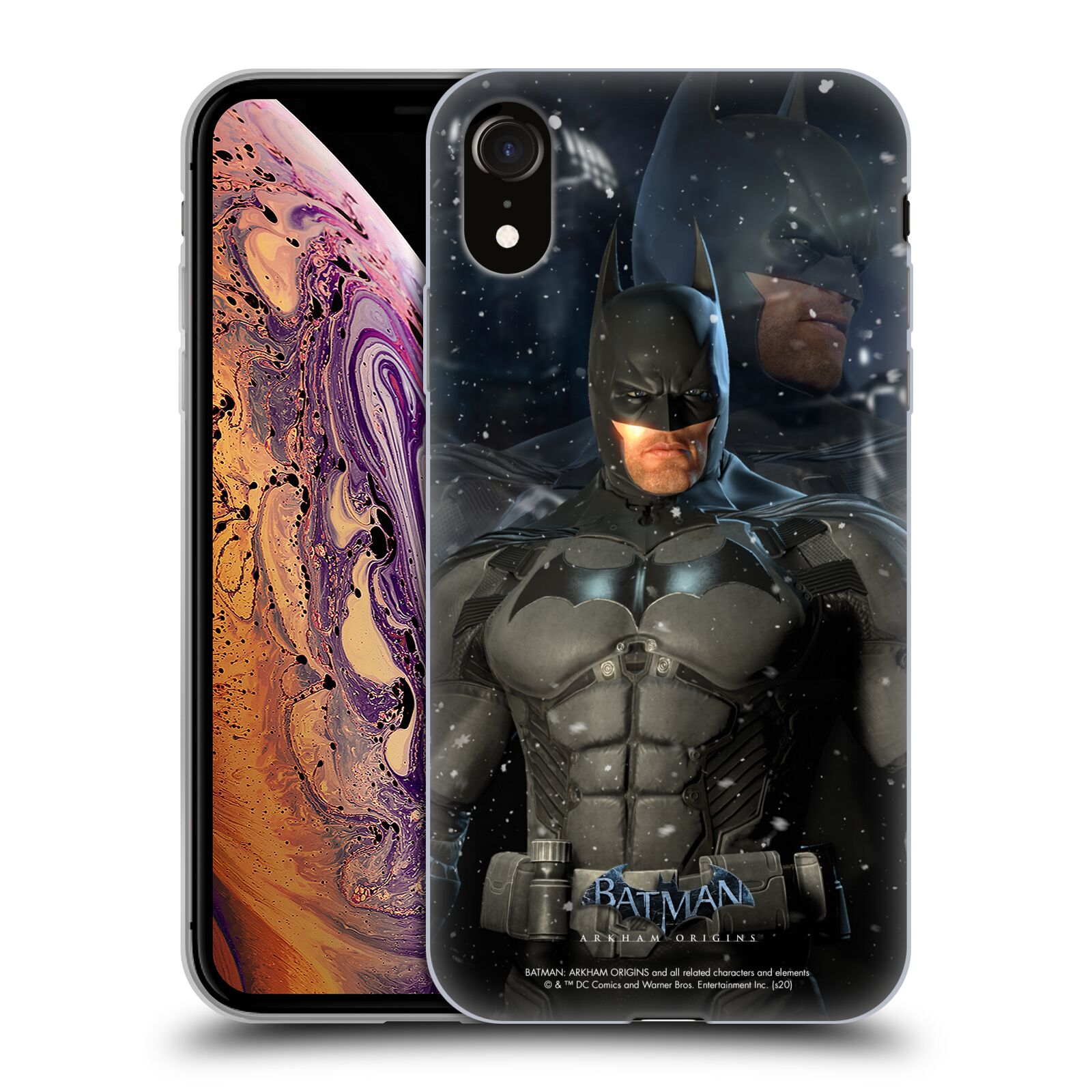 Official Batman: Arkham Origins Characters Batman Gel Case for Apple iPhone XR