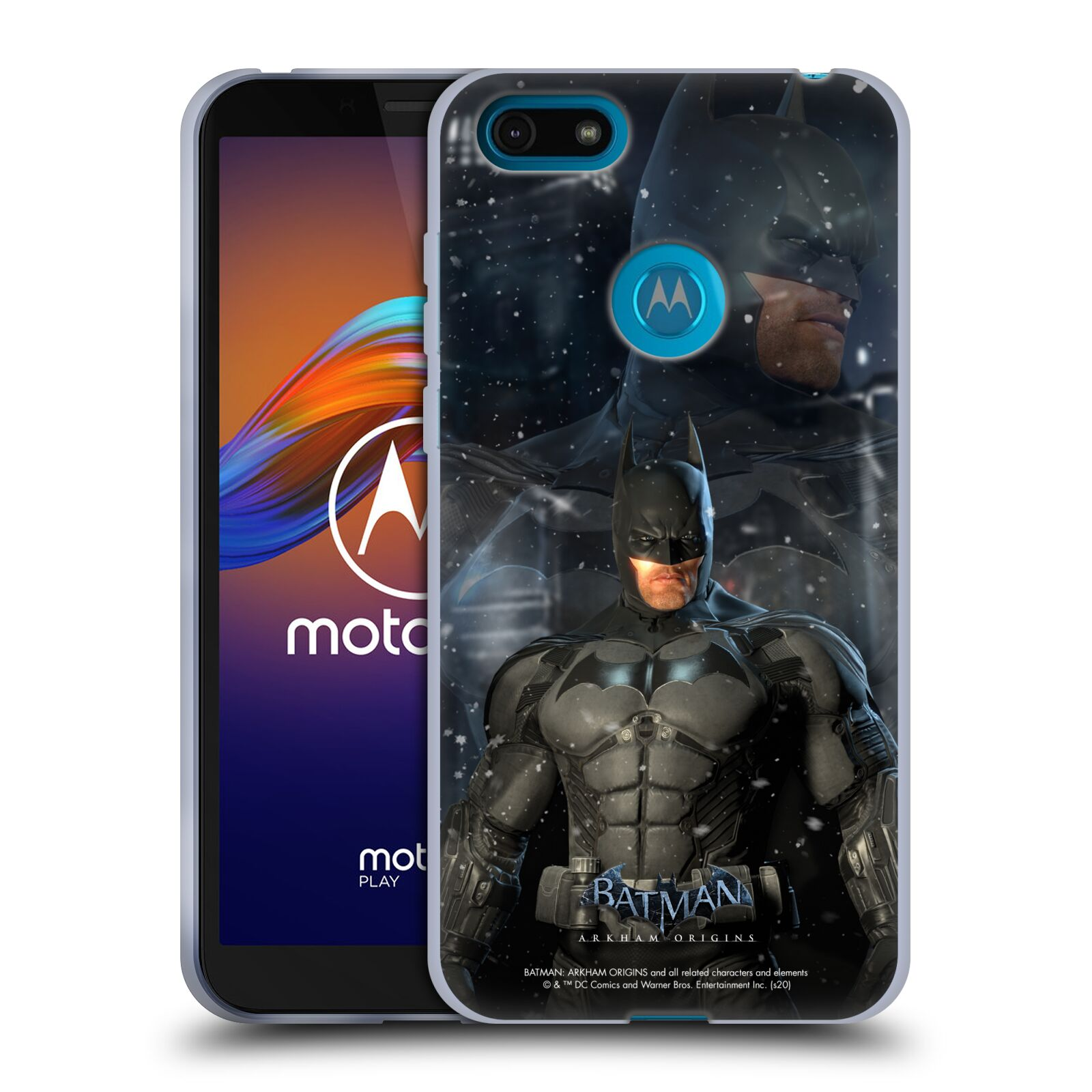 Official Batman: Arkham Origins Characters Batman Gel Case for Motorola Moto E6 Play
