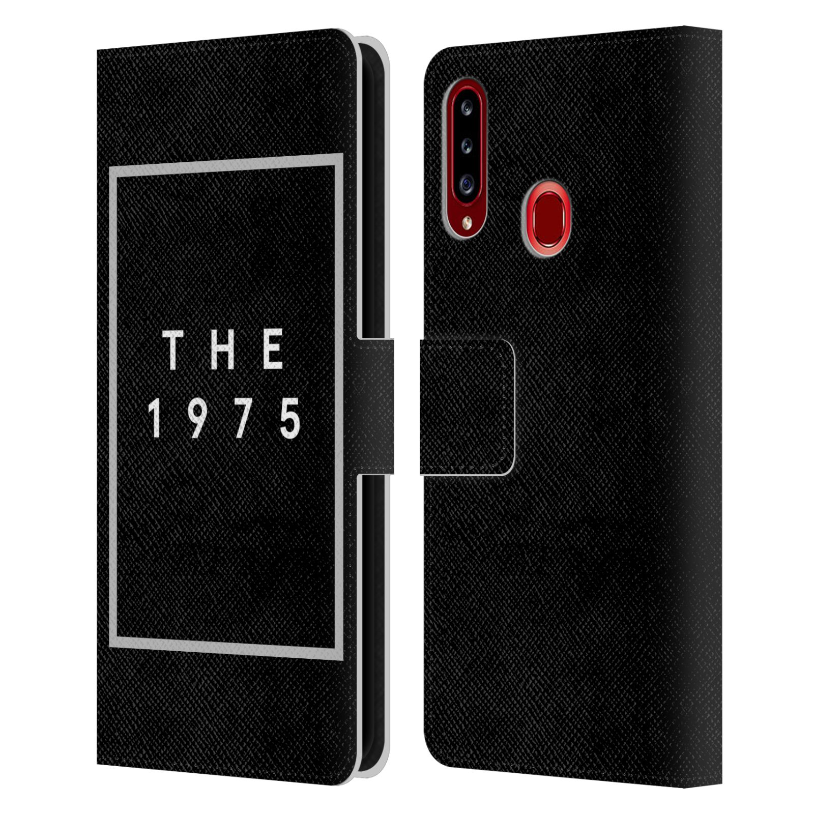 Official The 1975 Key Art Logo Black Leather Book Wallet Case For Samsung Galaxy A20s (2019)