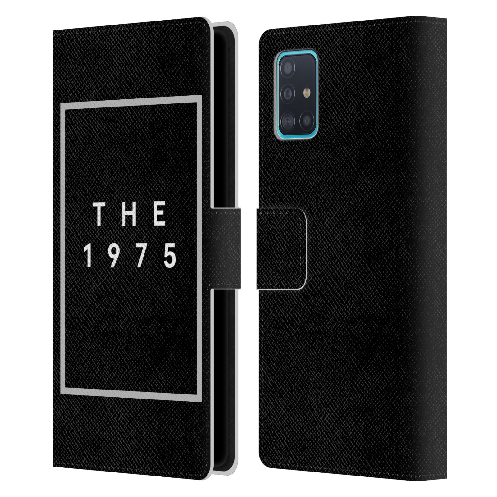 Official The 1975 Key Art Logo Black Leather Book Wallet Case For Samsung Galaxy A51 (2019)