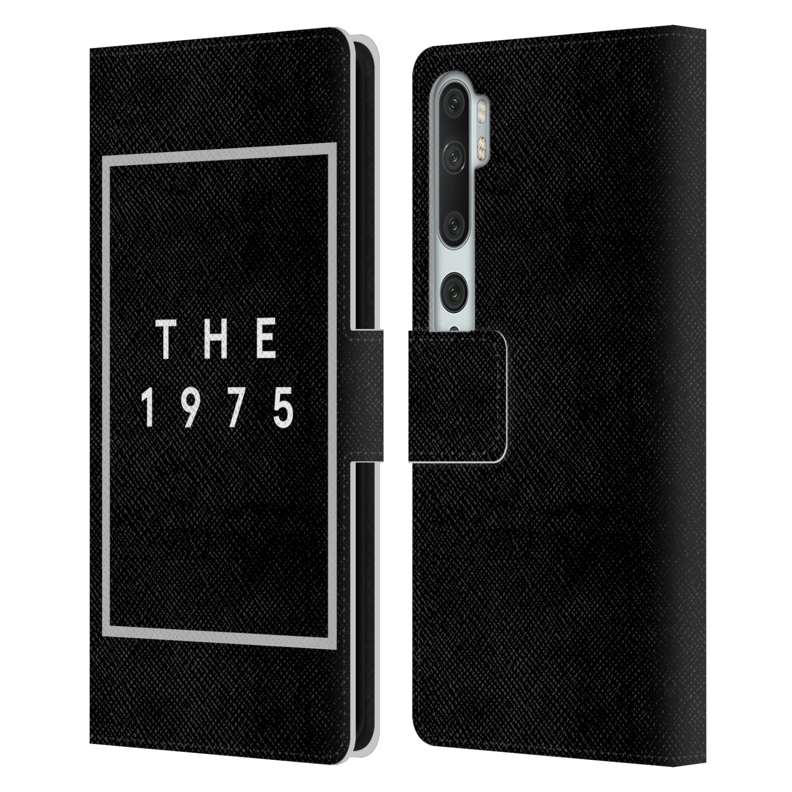 Official The 1975 Key Art Logo Black Leather Book Wallet Case For Xiaomi Mi CC9 Pro / Mi Note 10 / Pro