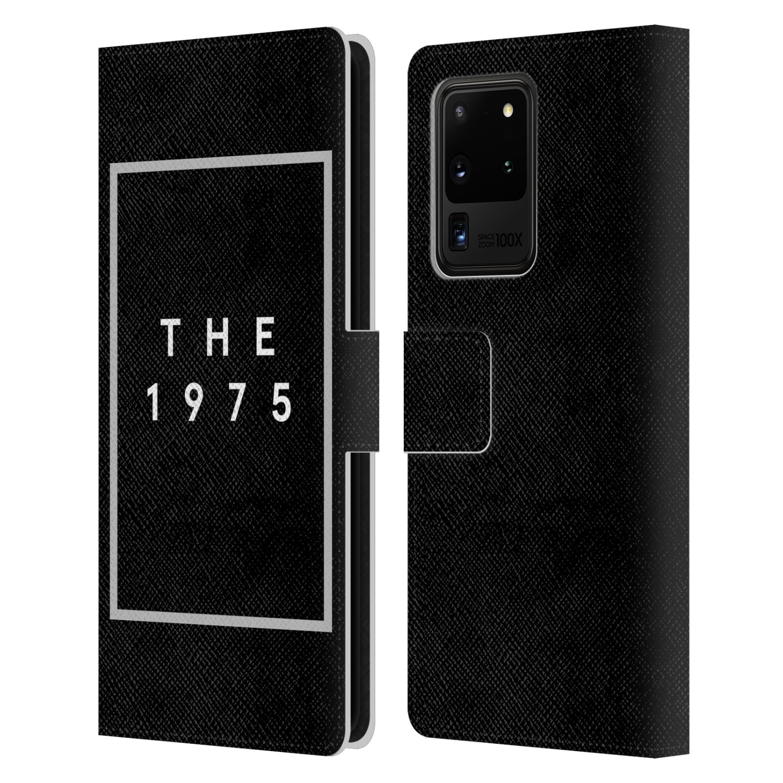 Official The 1975 Key Art Logo Black Leather Book Wallet Case For Samsung Galaxy S20 Ultra 5G
