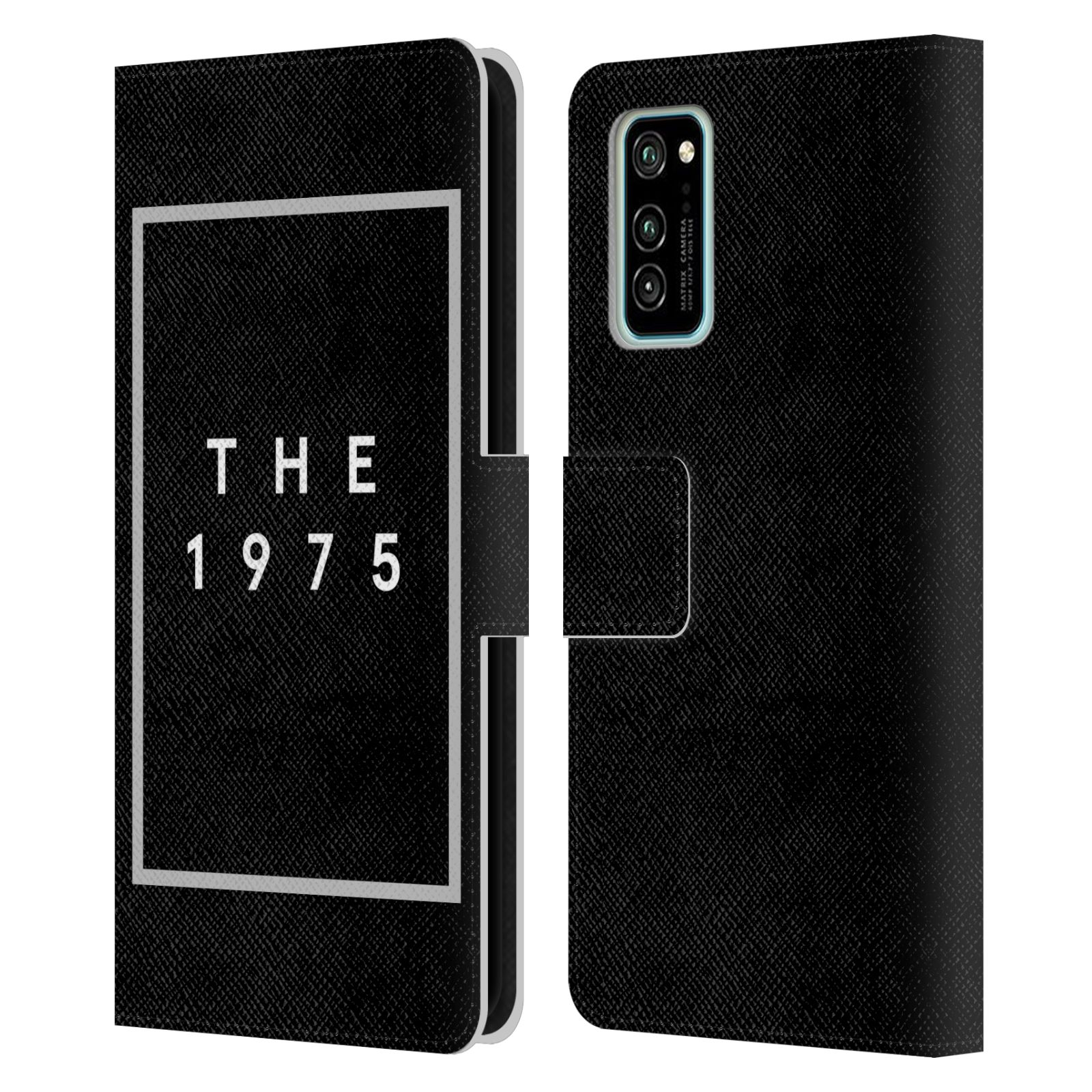 Official The 1975 Key Art Logo Black Leather Book Wallet Case For Huawei Honor V30 / Honor View 30