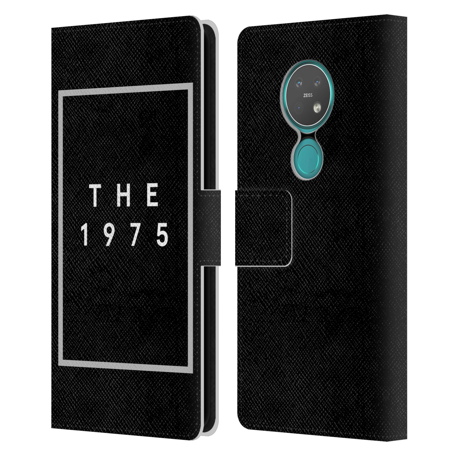 Official The 1975 Key Art Logo Black Leather Book Wallet Case For Nokia 7.2