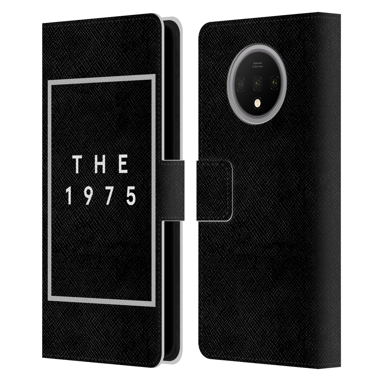 Official The 1975 Key Art Logo Black Leather Book Wallet Case For OnePlus 7T
