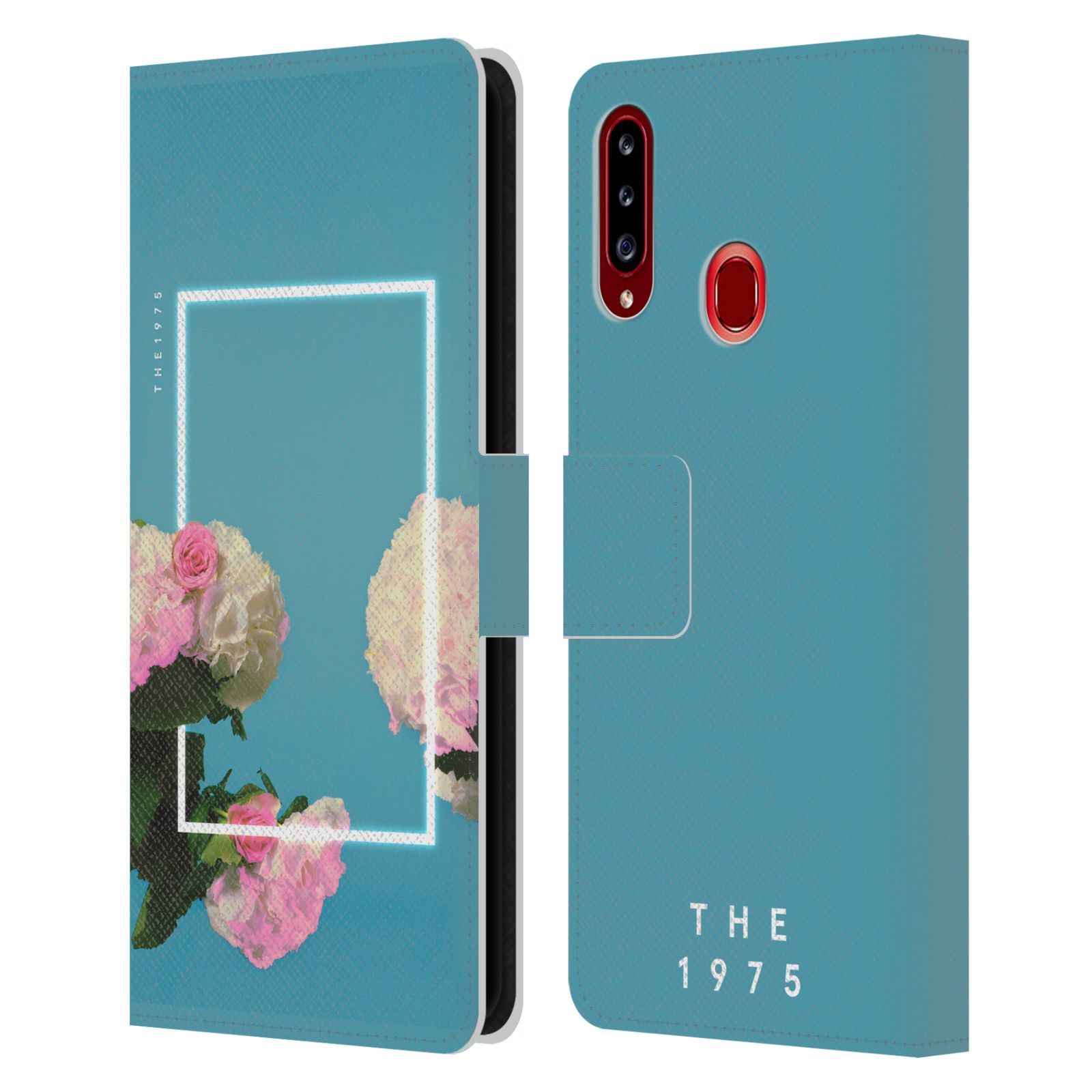 Official The 1975 Key Art Roses Blue Leather Book Wallet Case For Samsung Galaxy A20s (2019)