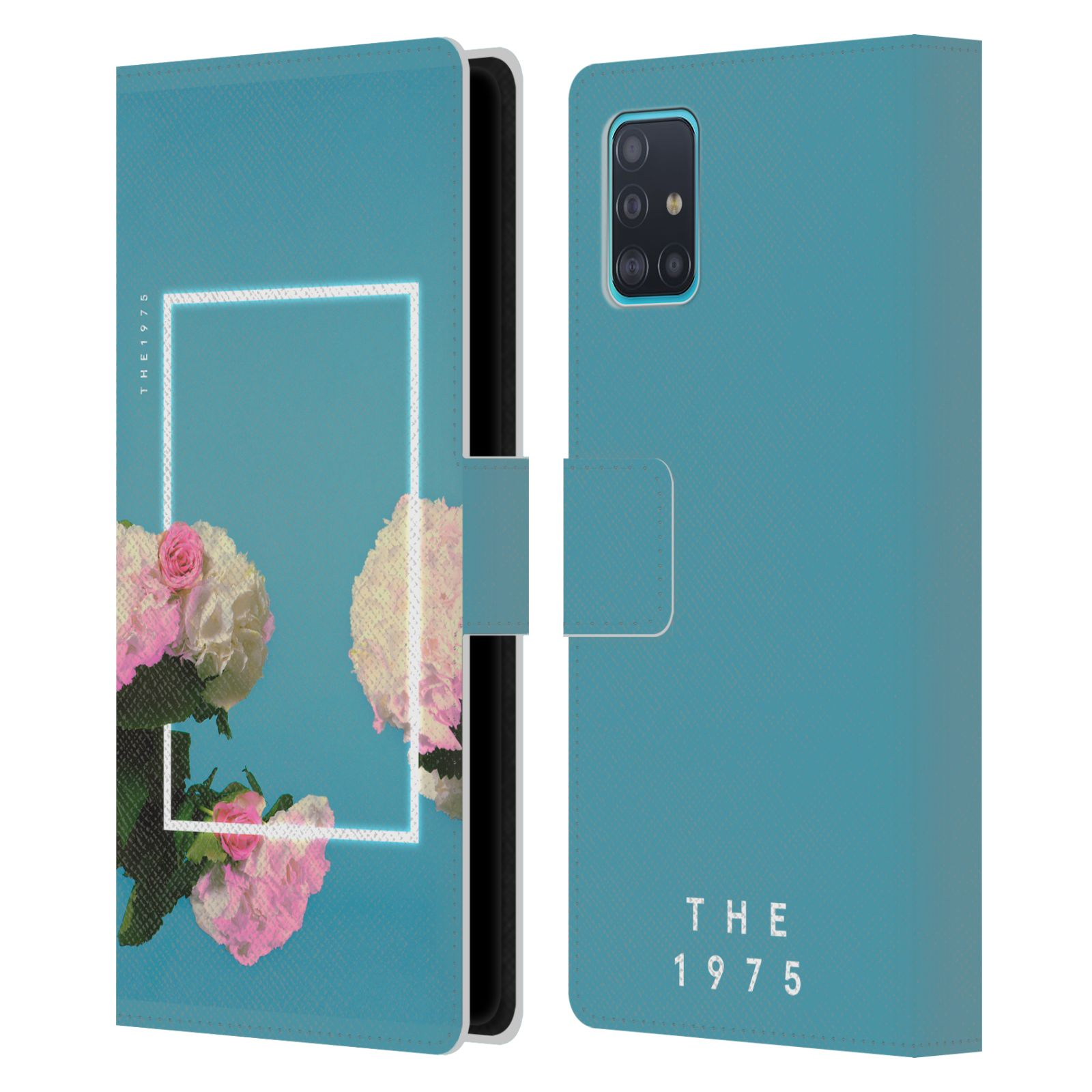 Official The 1975 Key Art Roses Blue Leather Book Wallet Case For Samsung Galaxy A51 (2019)