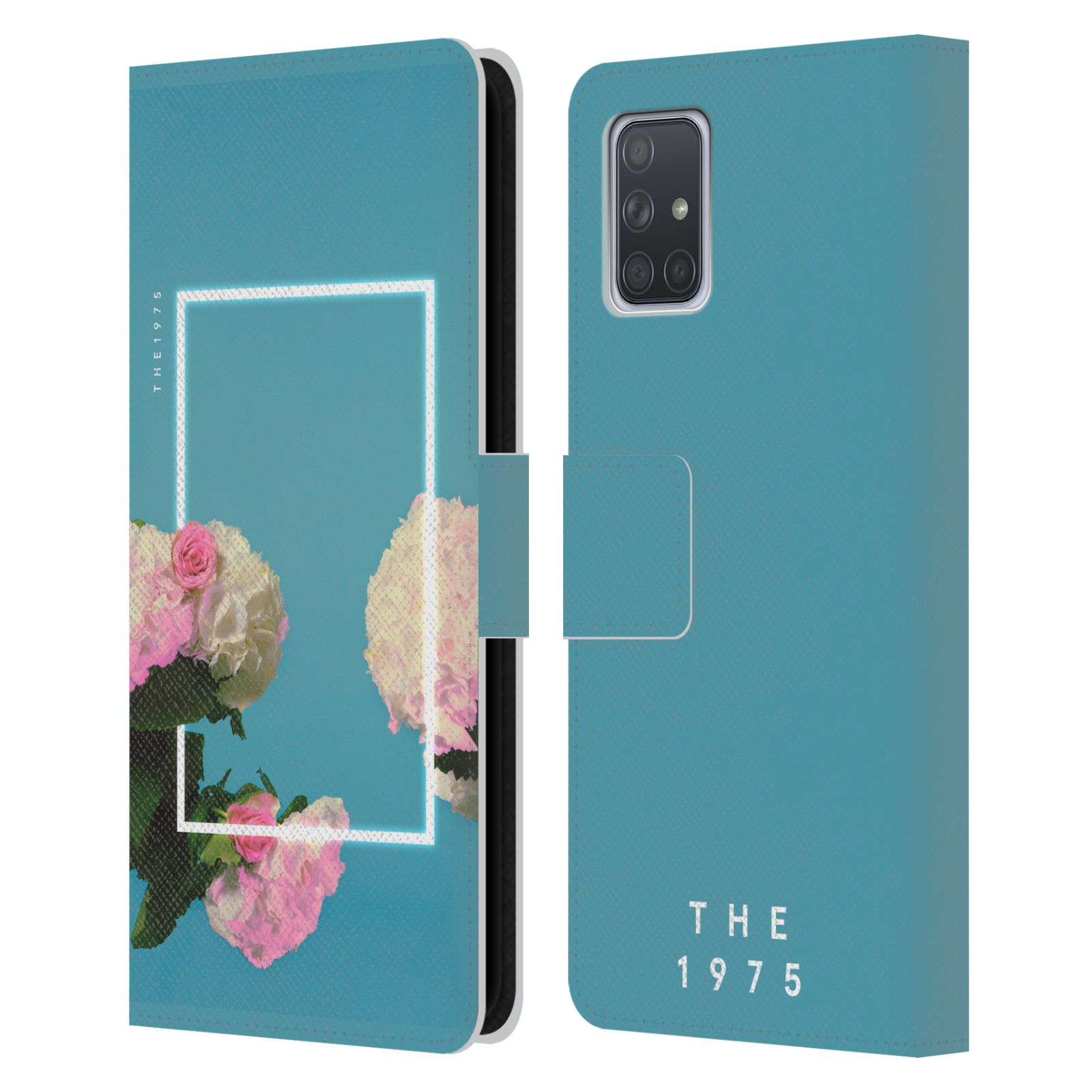 Official The 1975 Key Art Roses Blue Leather Book Wallet Case For Samsung Galaxy A71 (2019)