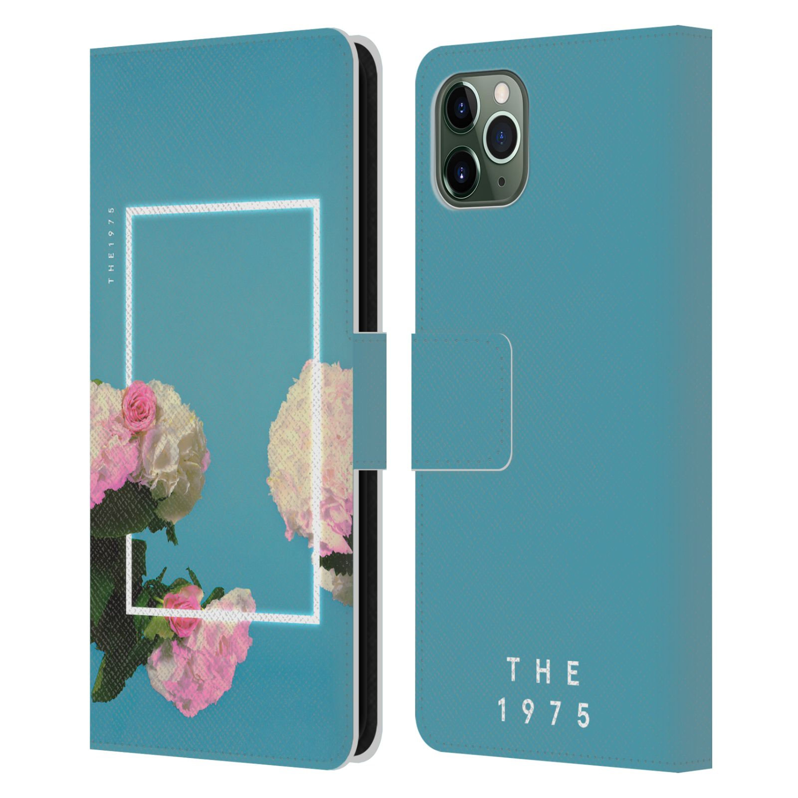 Official The 1975 Key Art Roses Blue Leather Book Wallet Case For Apple iPhone 11 Pro Max