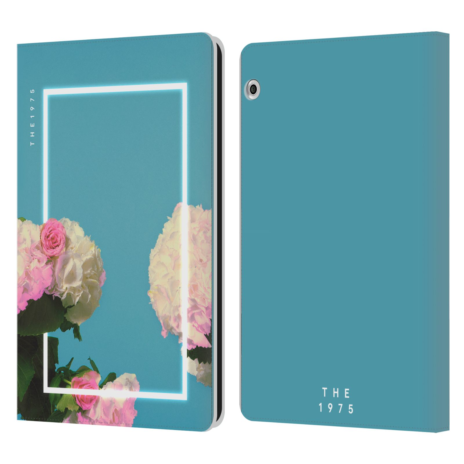 Official The 1975 Key Art Roses Blue Leather Book Wallet Case For Huawei MediaPad T3 10