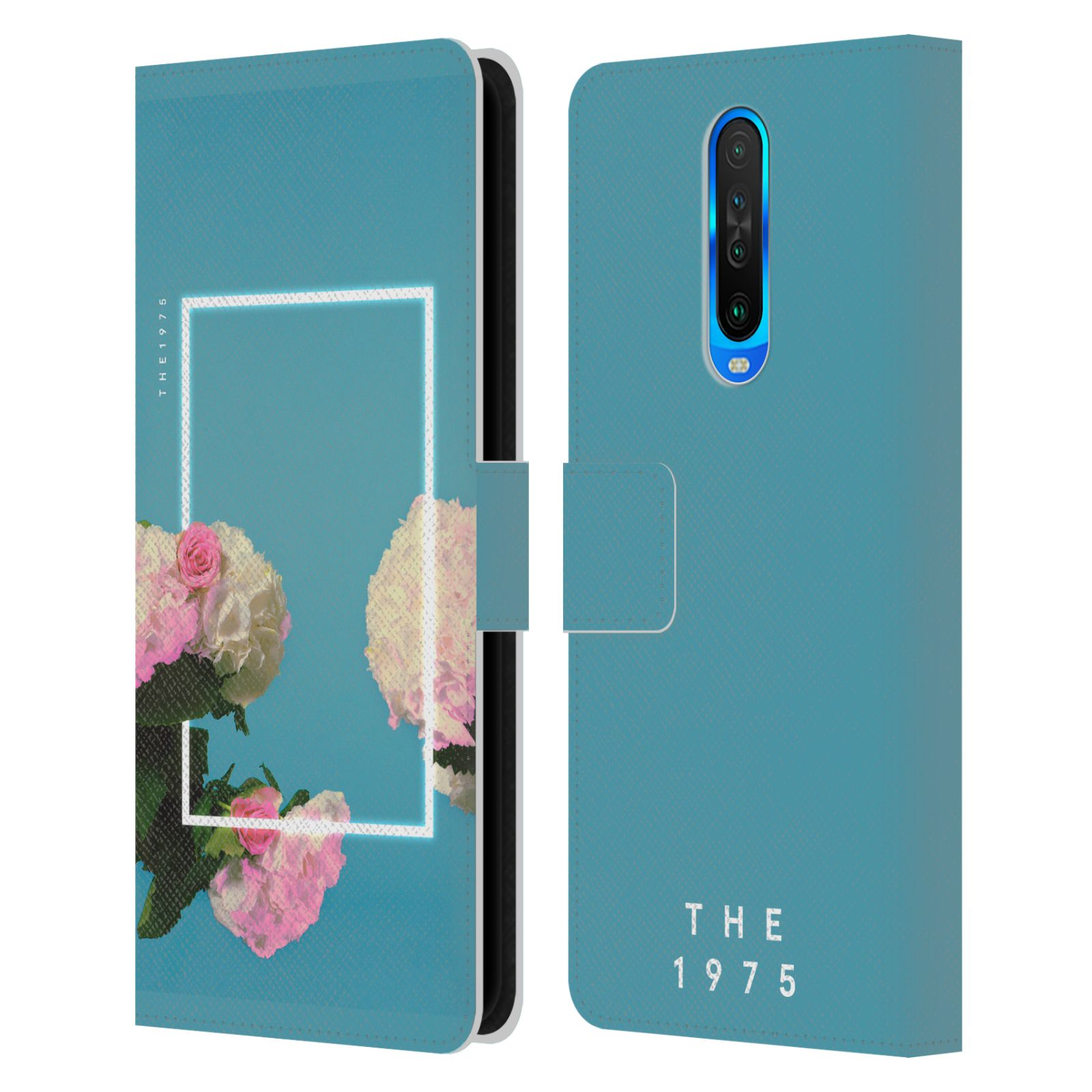Official The 1975 Key Art Roses Blue Leather Book Wallet Case For Xiaomi Redmi K30 / 5G